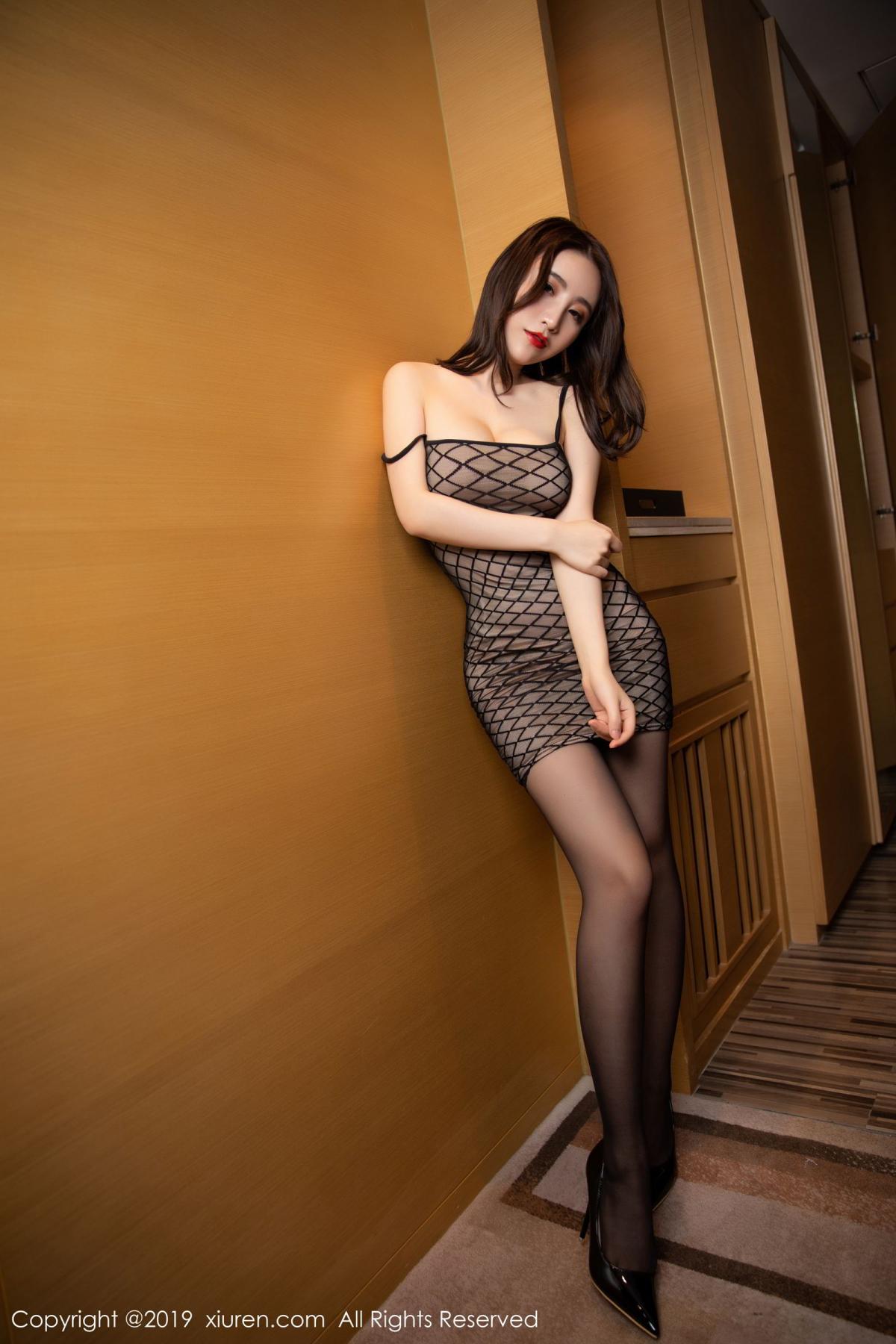 [XiuRen] Vol.1489 Xie Zhi Xin 16P, Black Silk, Tall, Xie Zhi Xin, Xiuren