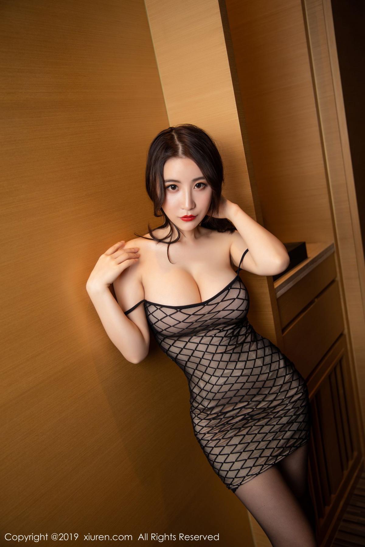 [XiuRen] Vol.1489 Xie Zhi Xin 18P, Black Silk, Tall, Xie Zhi Xin, Xiuren