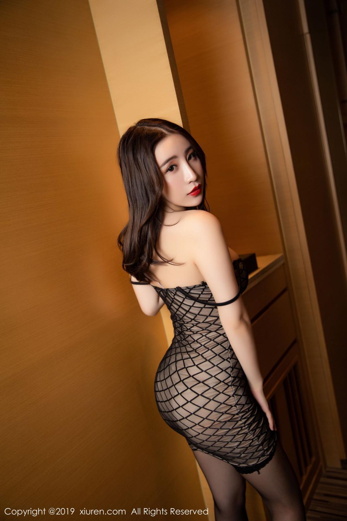 [XiuRen] Vol.1489 Xie Zhi Xin 19P, Black Silk, Tall, Xie Zhi Xin, Xiuren