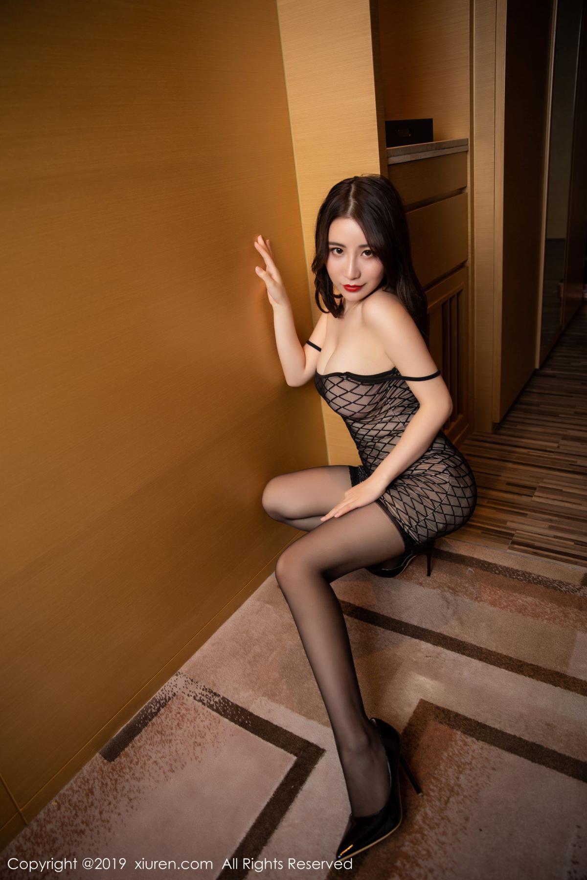 [XiuRen] Vol.1489 Xie Zhi Xin 22P, Black Silk, Tall, Xie Zhi Xin, Xiuren