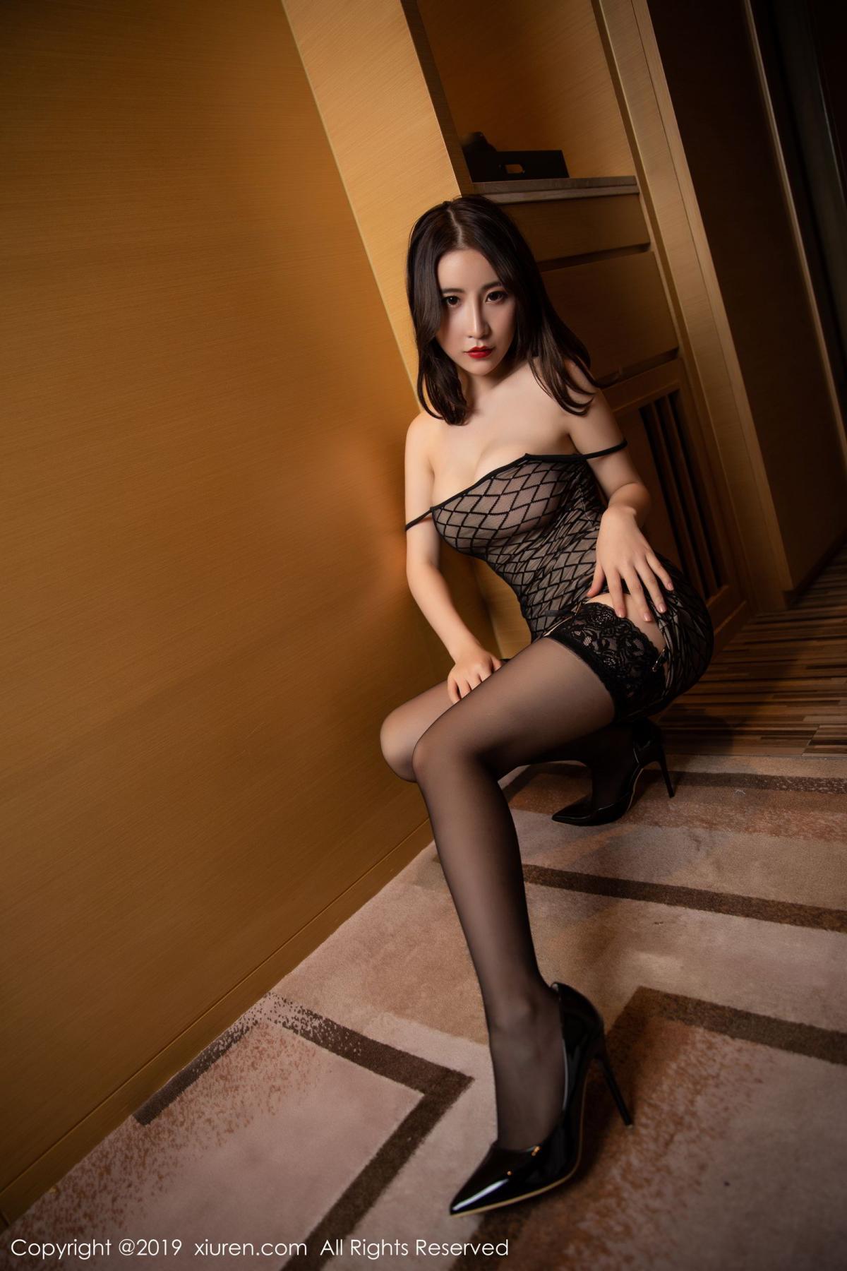 [XiuRen] Vol.1489 Xie Zhi Xin 23P, Black Silk, Tall, Xie Zhi Xin, Xiuren