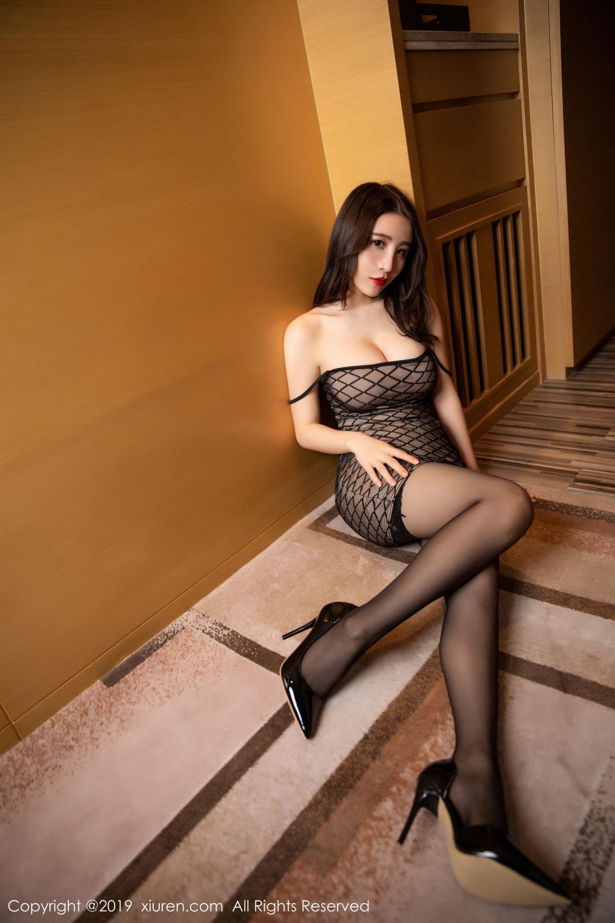 [XiuRen] Vol.1489 Xie Zhi Xin 28P, Black Silk, Tall, Xie Zhi Xin, Xiuren
