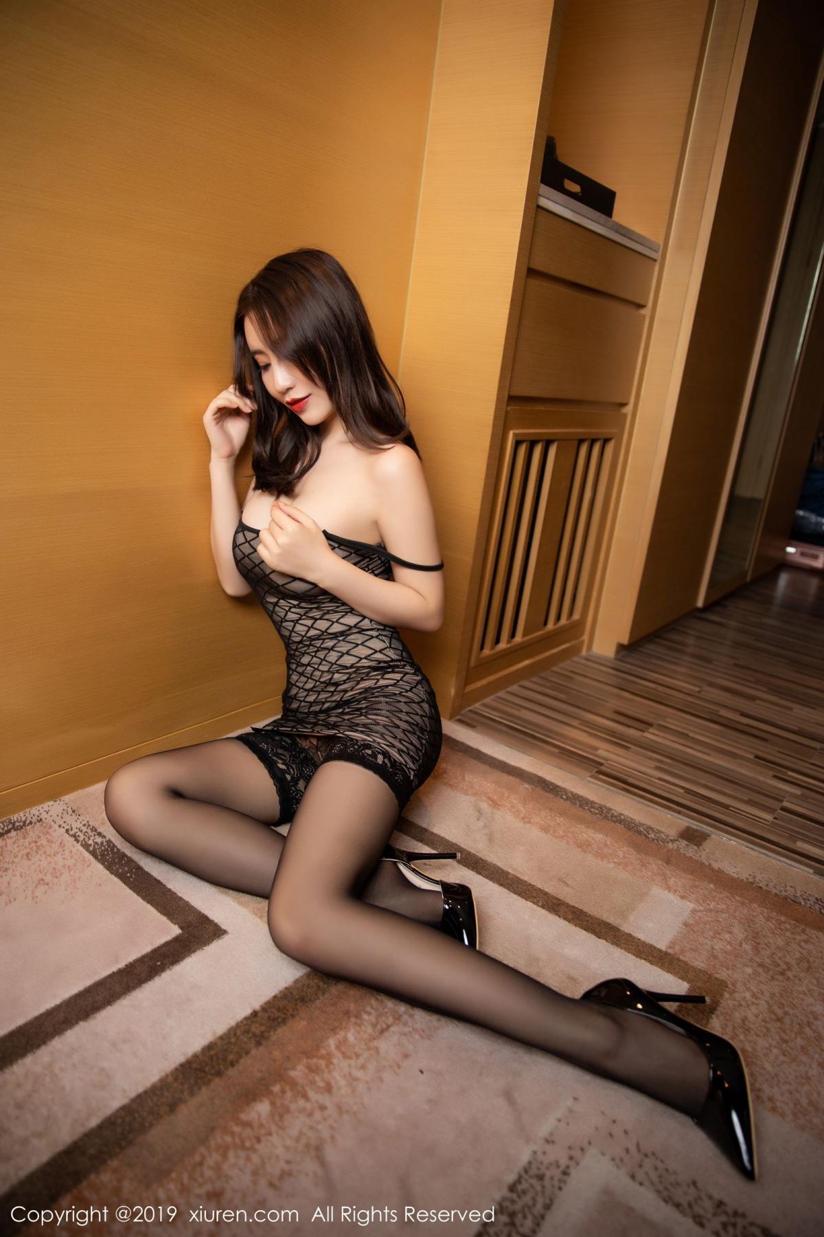 [XiuRen] Vol.1489 Xie Zhi Xin 38P, Black Silk, Tall, Xie Zhi Xin, Xiuren