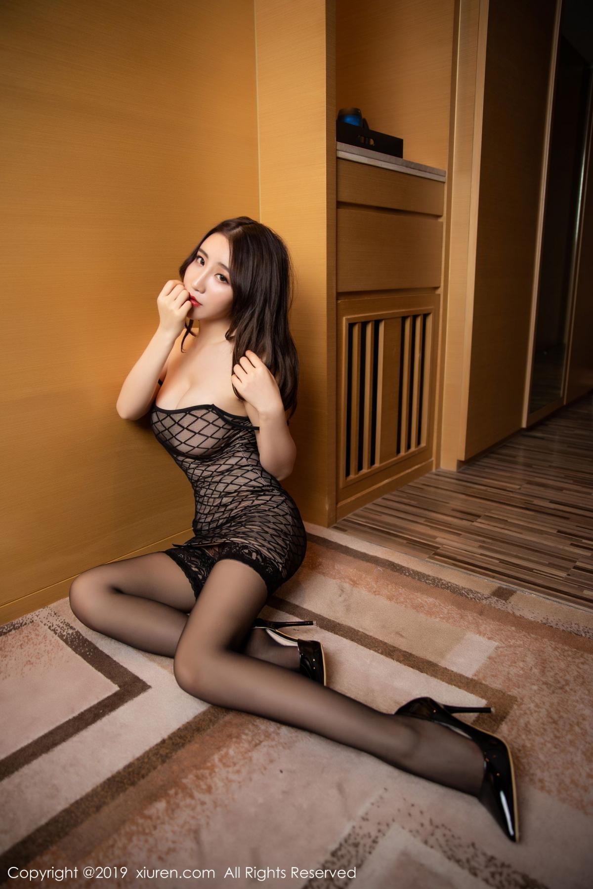 [XiuRen] Vol.1489 Xie Zhi Xin 40P, Black Silk, Tall, Xie Zhi Xin, Xiuren