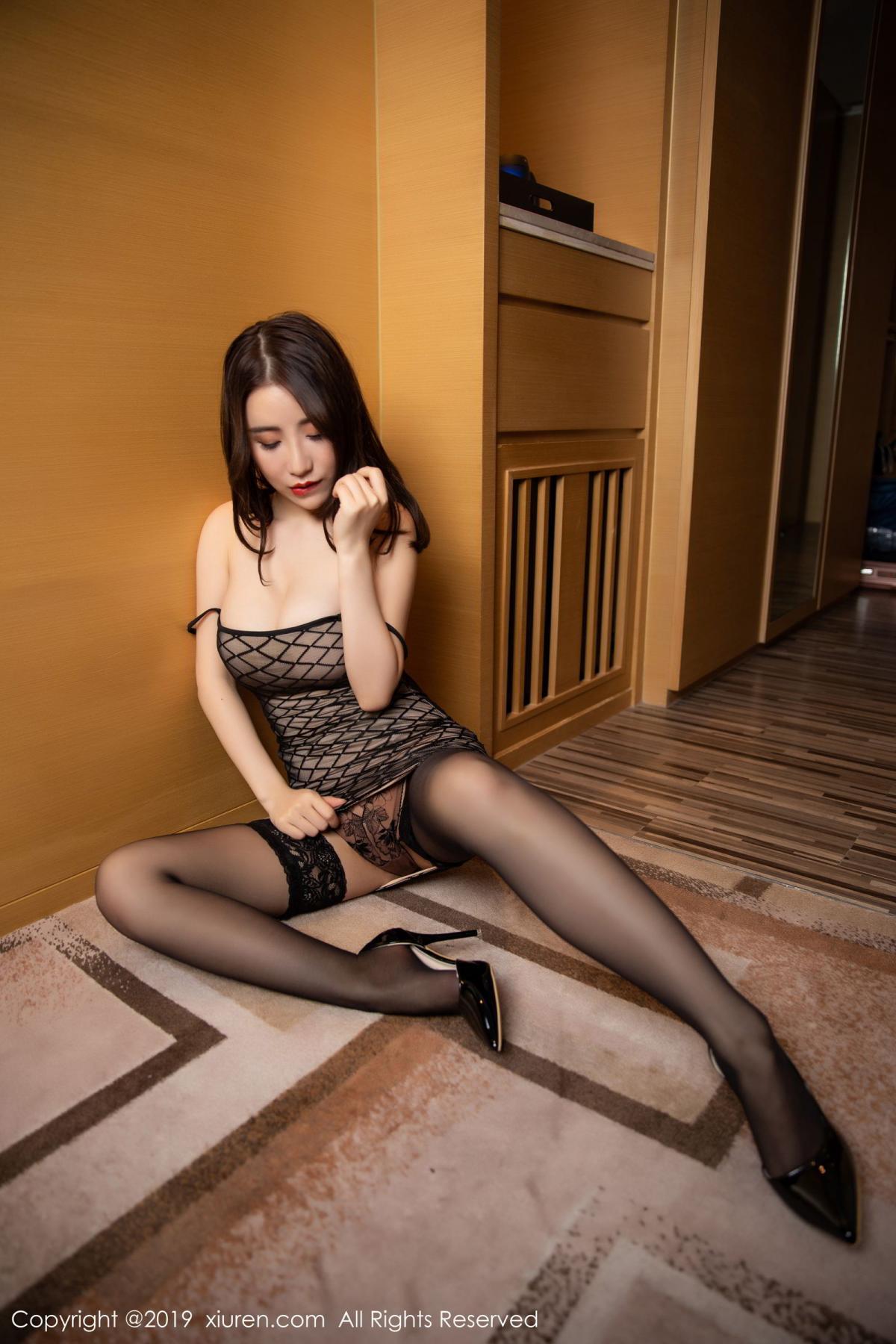 [XiuRen] Vol.1489 Xie Zhi Xin 42P, Black Silk, Tall, Xie Zhi Xin, Xiuren