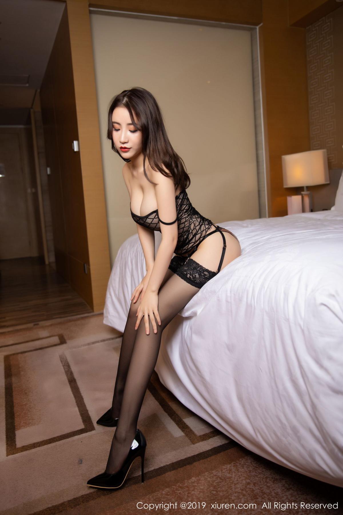 [XiuRen] Vol.1489 Xie Zhi Xin 55P, Black Silk, Tall, Xie Zhi Xin, Xiuren