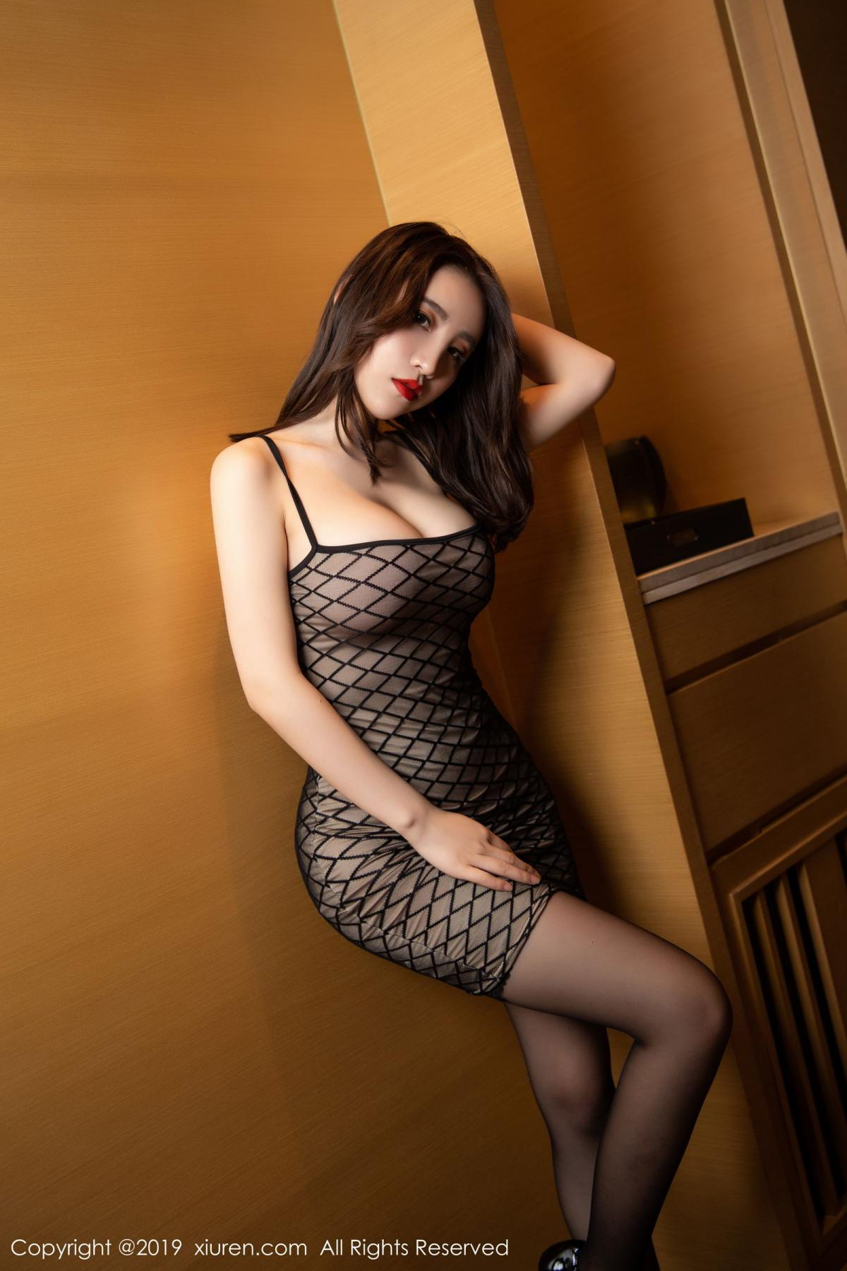 [XiuRen] Vol.1489 Xie Zhi Xin 6P, Black Silk, Tall, Xie Zhi Xin, Xiuren