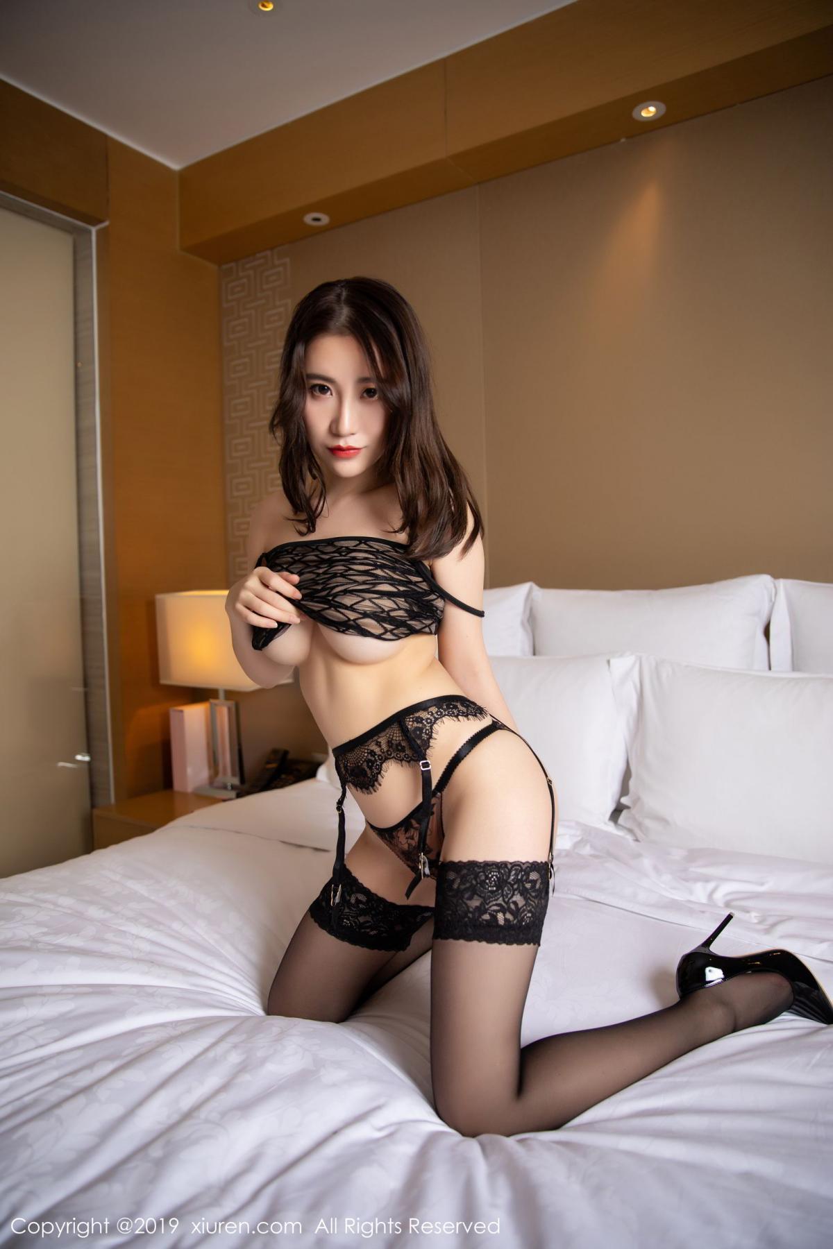 [XiuRen] Vol.1489 Xie Zhi Xin 70P, Black Silk, Tall, Xie Zhi Xin, Xiuren