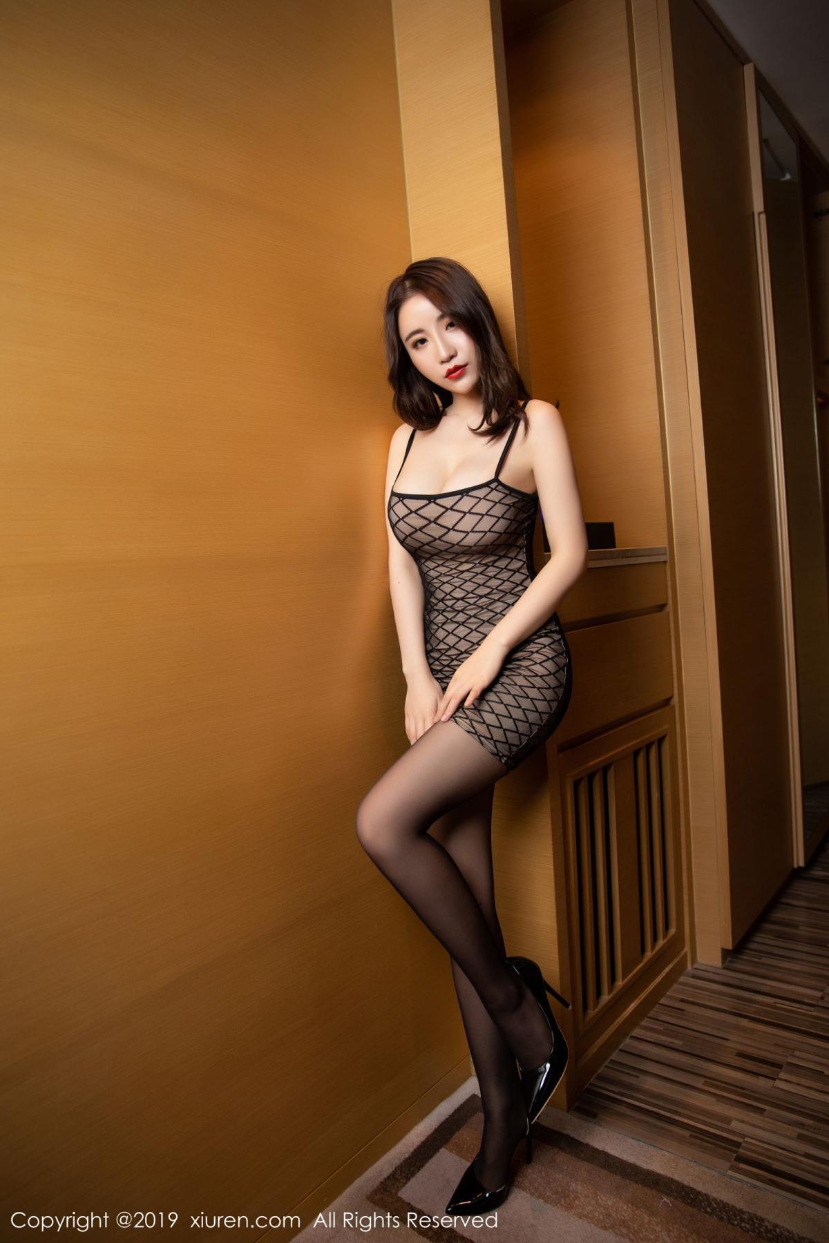[XiuRen] Vol.1489 Xie Zhi Xin 7P, Black Silk, Tall, Xie Zhi Xin, Xiuren