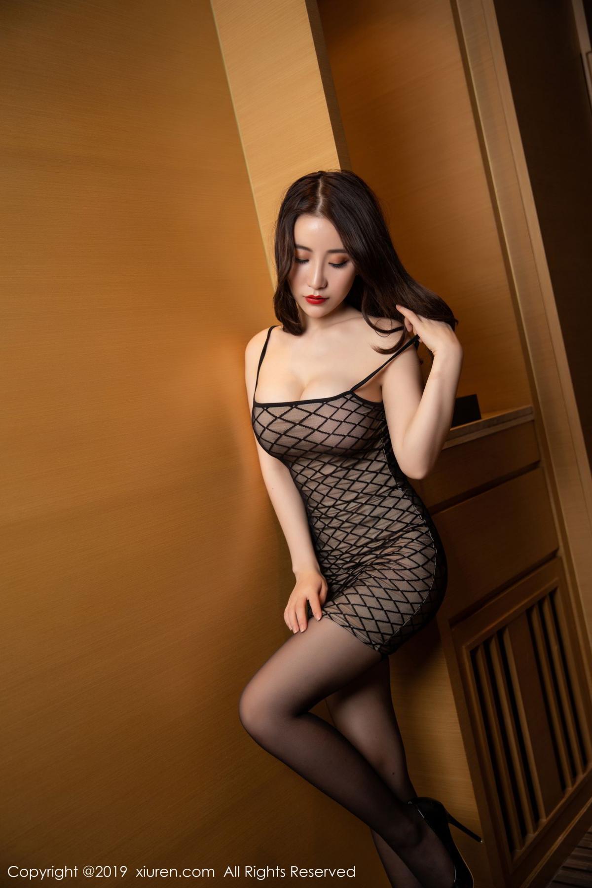 [XiuRen] Vol.1489 Xie Zhi Xin 8P, Black Silk, Tall, Xie Zhi Xin, Xiuren