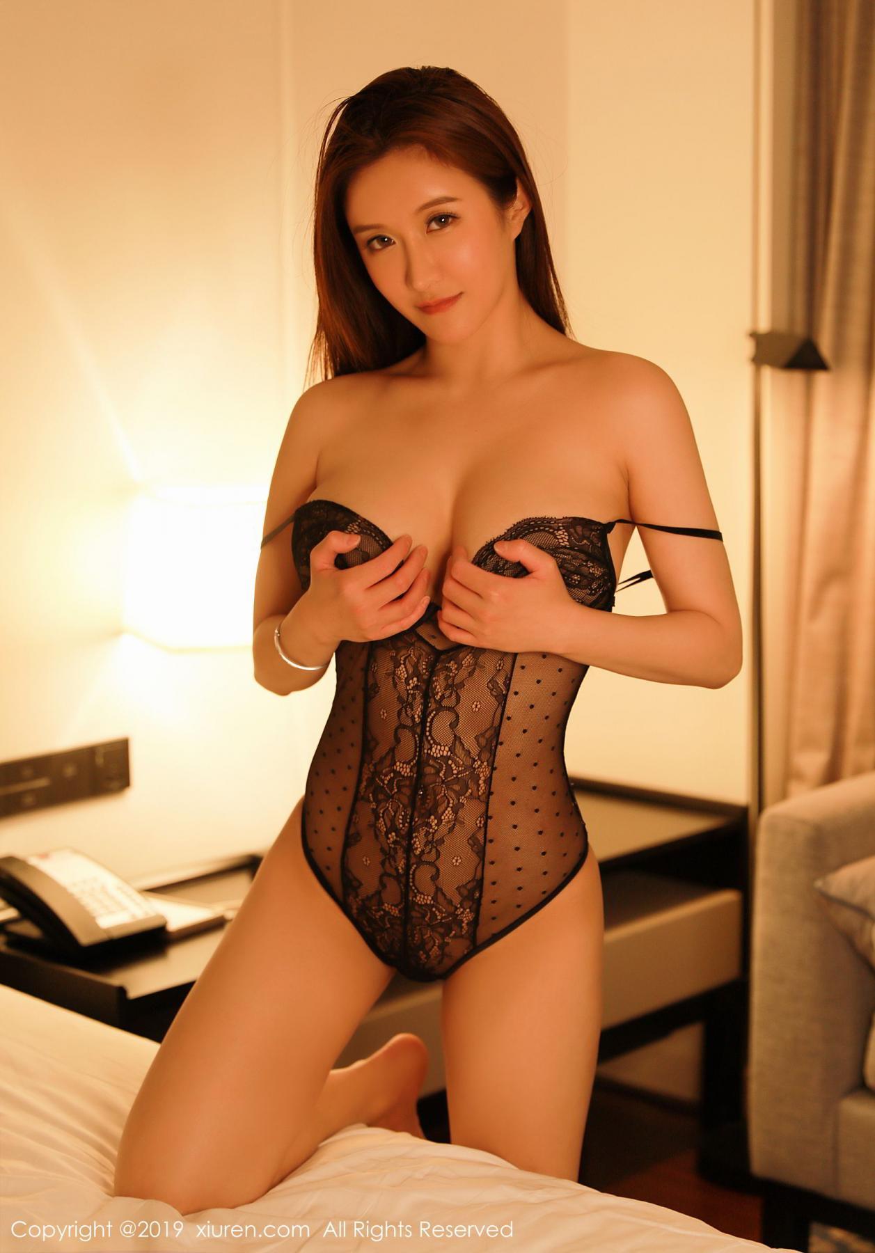 [XiuRen] Vol.1500 Jennanni Jen 21P, Black Silk, Jennanni Jen, Tall, Underwear, Xiuren