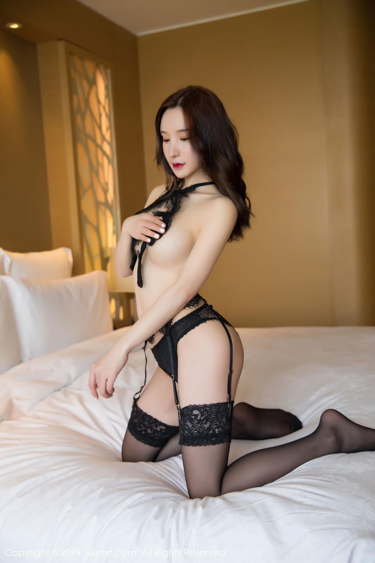 [XiuRen] Vol.1505 Zhou Yu Xi 54P, Black Silk, Tall, Underwear, Xiuren, Zhou Yu Xi