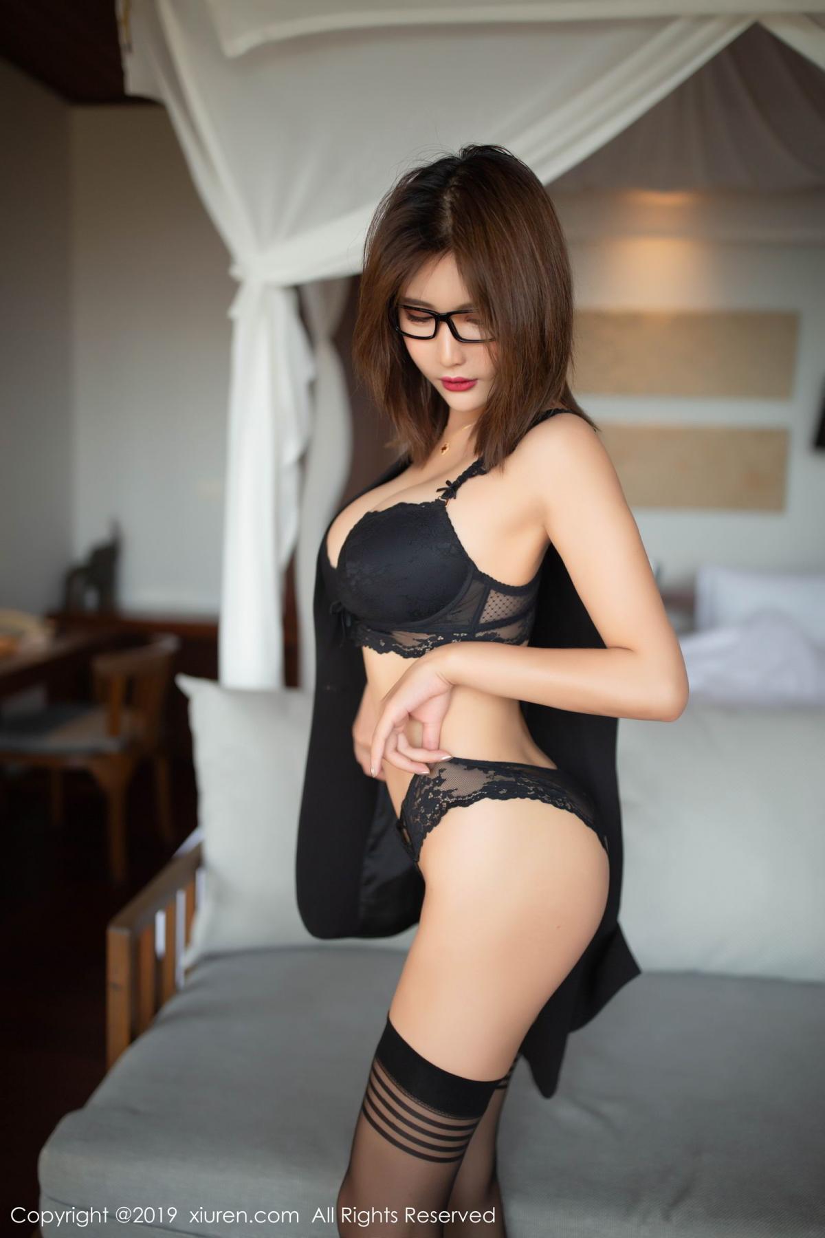 [XiuRen] Vol.1507 Solo Yi Fei 10P, Black Silk, Solo Yi Fei, Underwear, Uniform, Xiuren