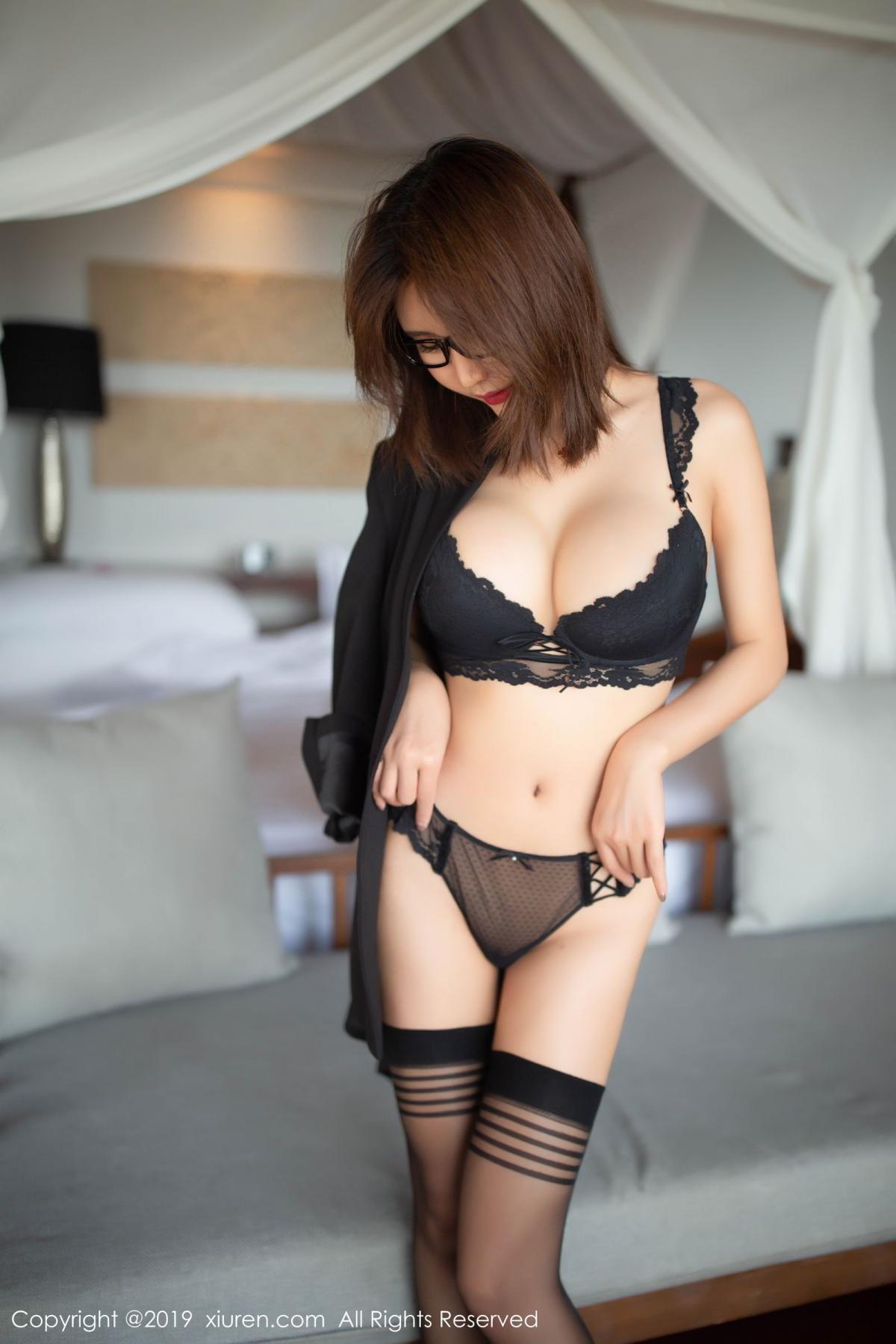[XiuRen] Vol.1507 Solo Yi Fei 12P, Black Silk, Solo Yi Fei, Underwear, Uniform, Xiuren