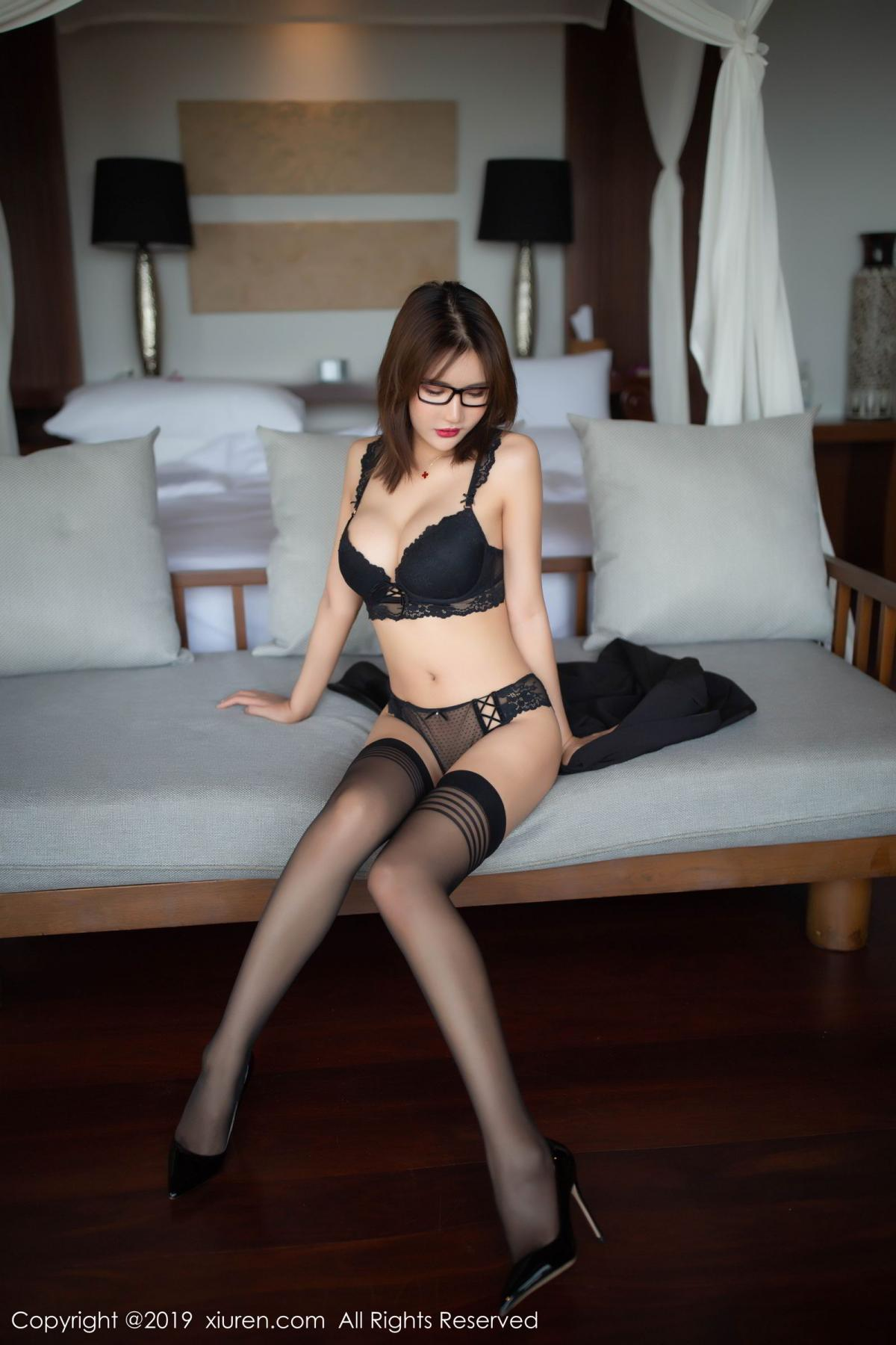 [XiuRen] Vol.1507 Solo Yi Fei 15P, Black Silk, Solo Yi Fei, Underwear, Uniform, Xiuren