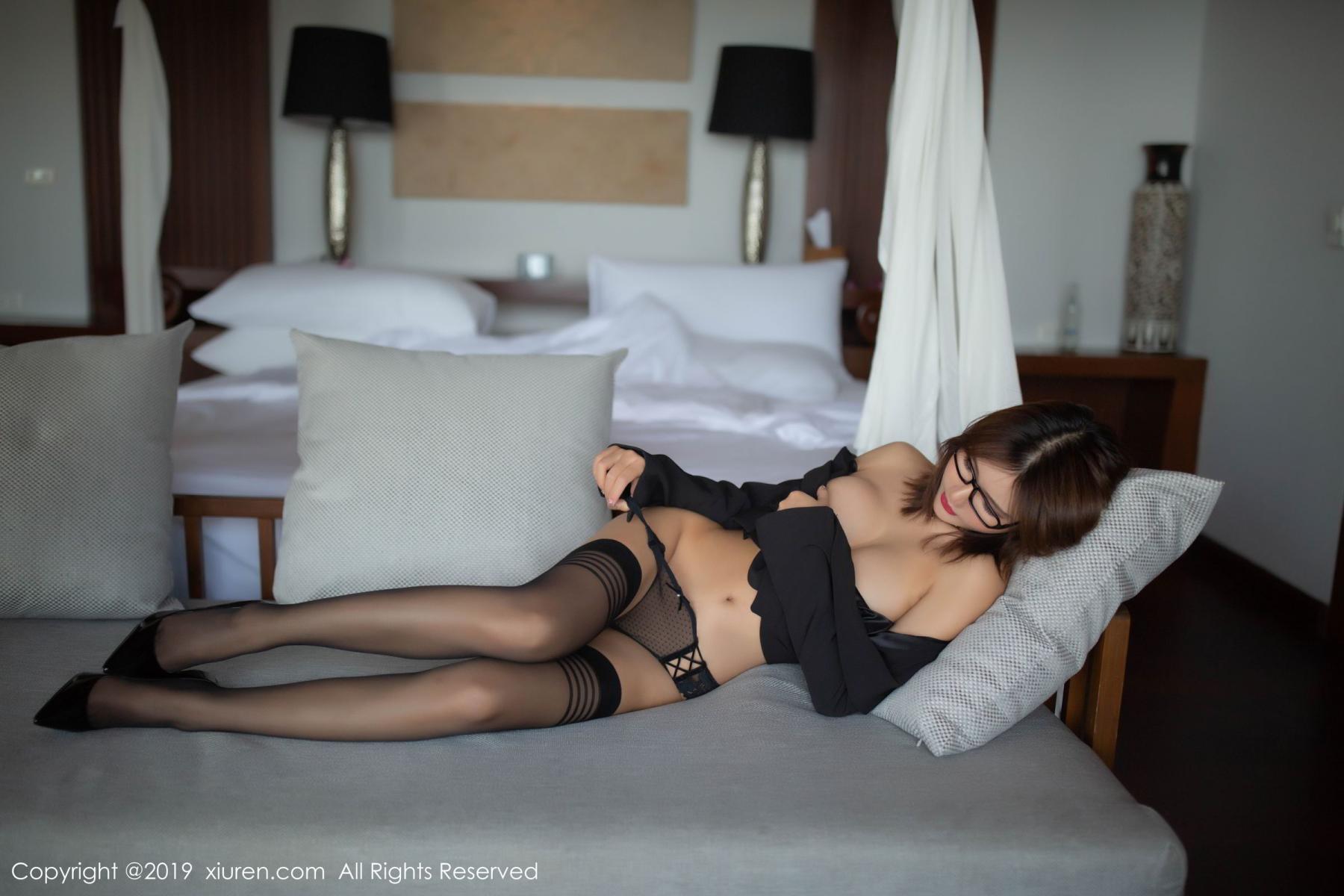 [XiuRen] Vol.1507 Solo Yi Fei 16P, Black Silk, Solo Yi Fei, Underwear, Uniform, Xiuren