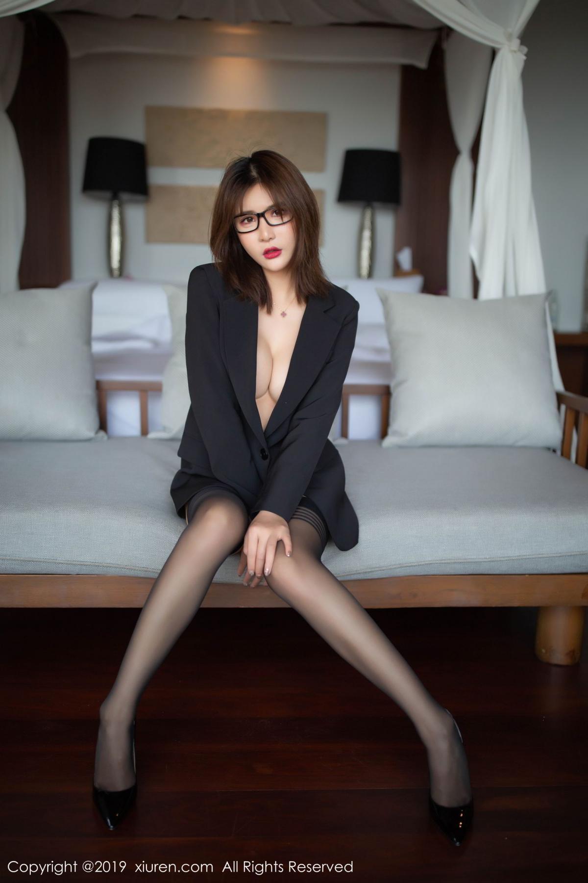 [XiuRen] Vol.1507 Solo Yi Fei 1P, Black Silk, Solo Yi Fei, Underwear, Uniform, Xiuren