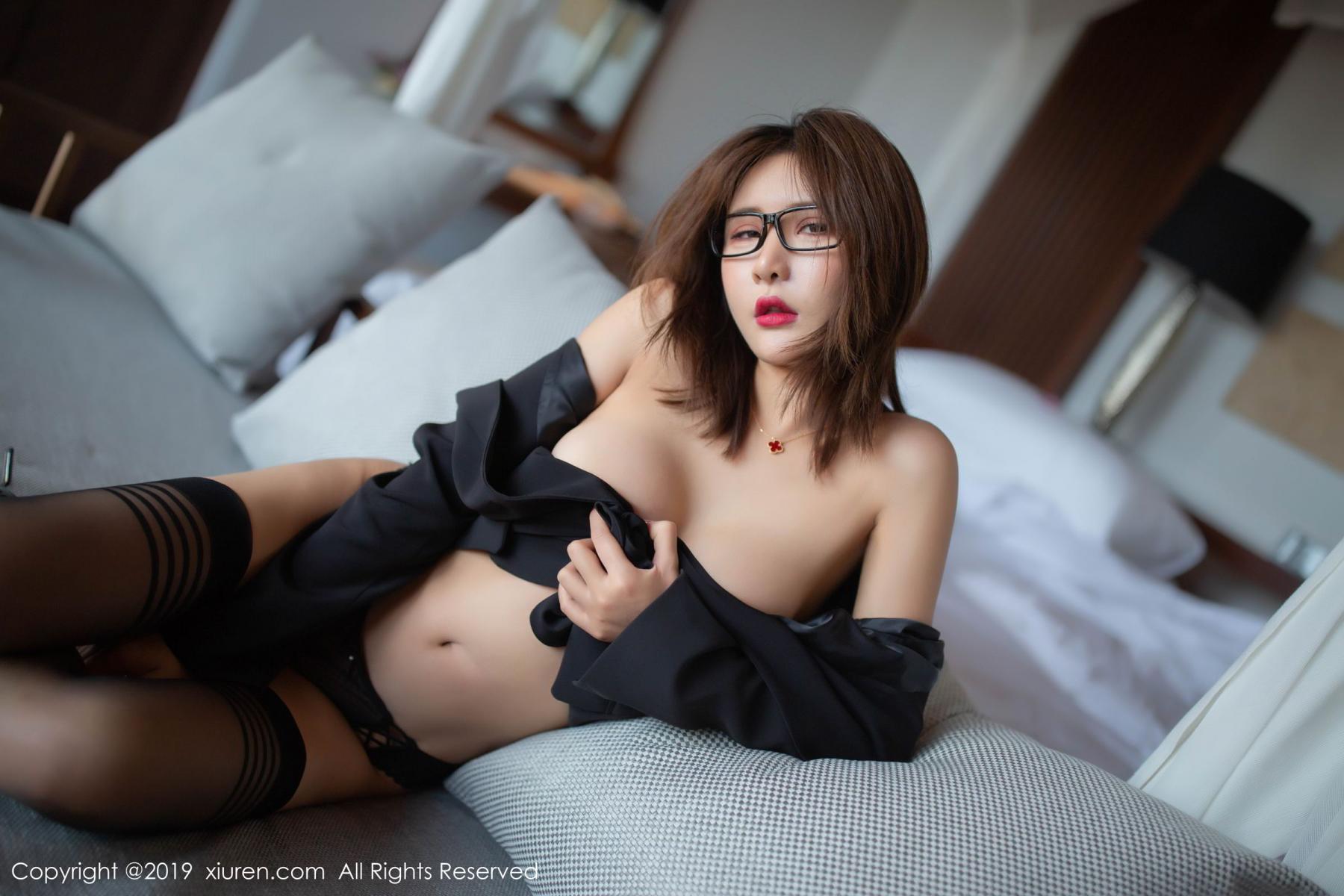 [XiuRen] Vol.1507 Solo Yi Fei 4P, Black Silk, Solo Yi Fei, Underwear, Uniform, Xiuren