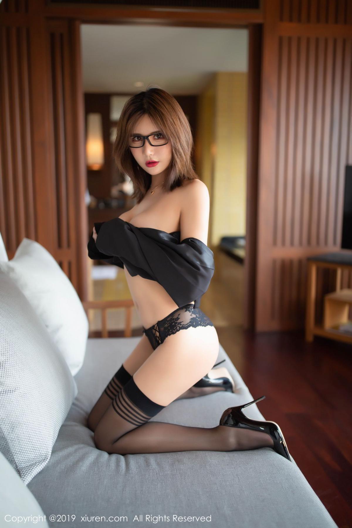 [XiuRen] Vol.1507 Solo Yi Fei 5P, Black Silk, Solo Yi Fei, Underwear, Uniform, Xiuren