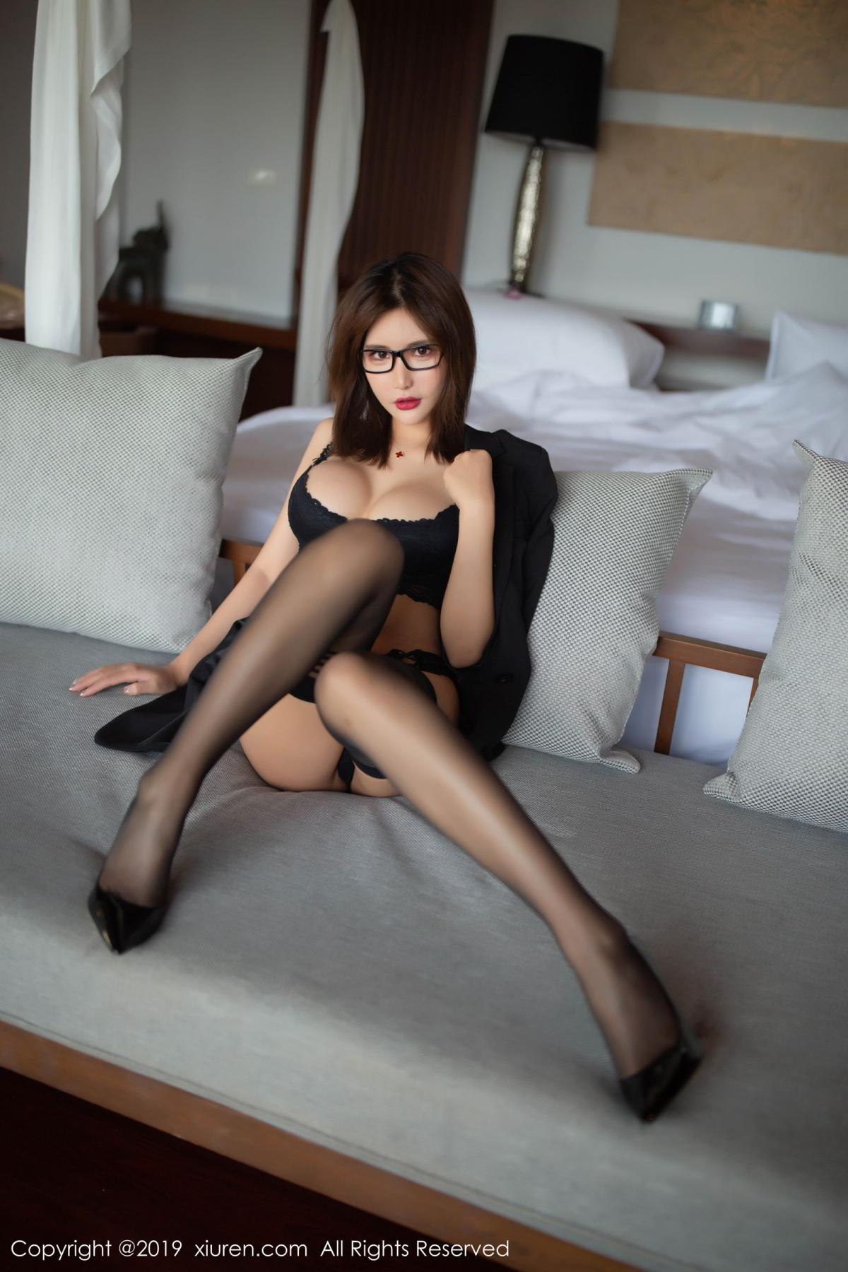 [XiuRen] Vol.1507 Solo Yi Fei 6P, Black Silk, Solo Yi Fei, Underwear, Uniform, Xiuren