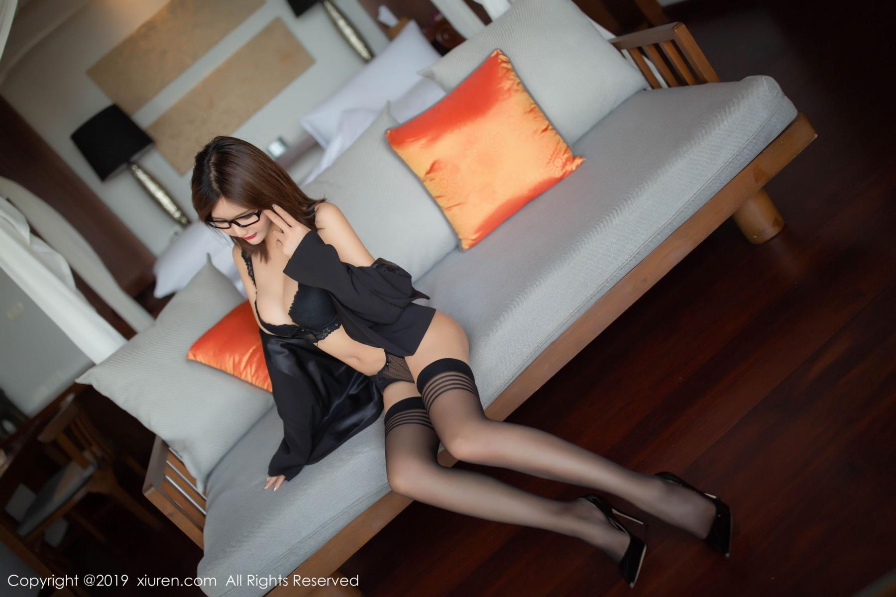 [XiuRen] Vol.1507 Solo Yi Fei 9P, Black Silk, Solo Yi Fei, Underwear, Uniform, Xiuren