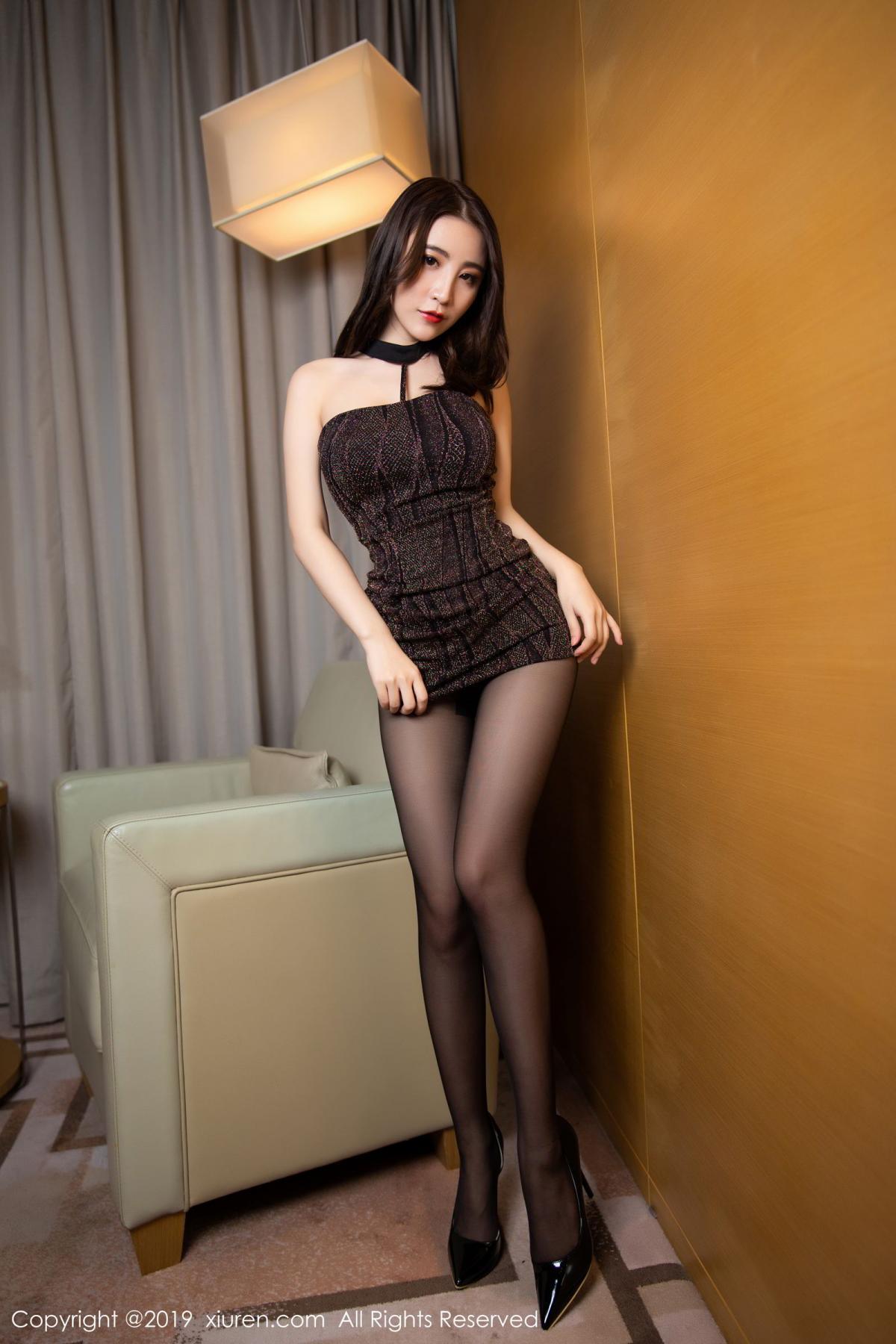 [XiuRen] Vol.1509 Xie Zhi Xin 15P, Black Silk, Tall, Xie Zhi Xin, Xiuren