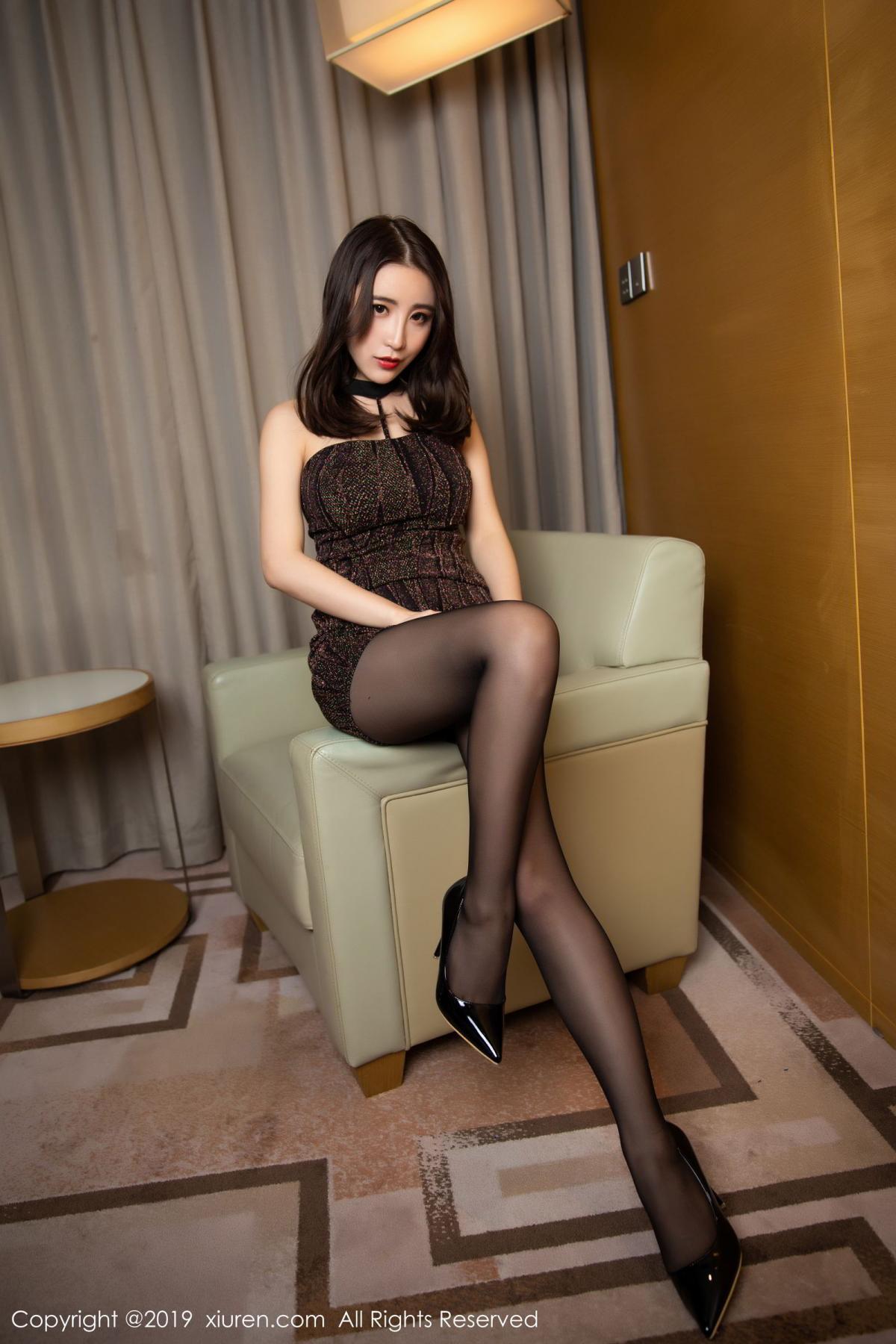 [XiuRen] Vol.1509 Xie Zhi Xin 1P, Black Silk, Tall, Xie Zhi Xin, Xiuren