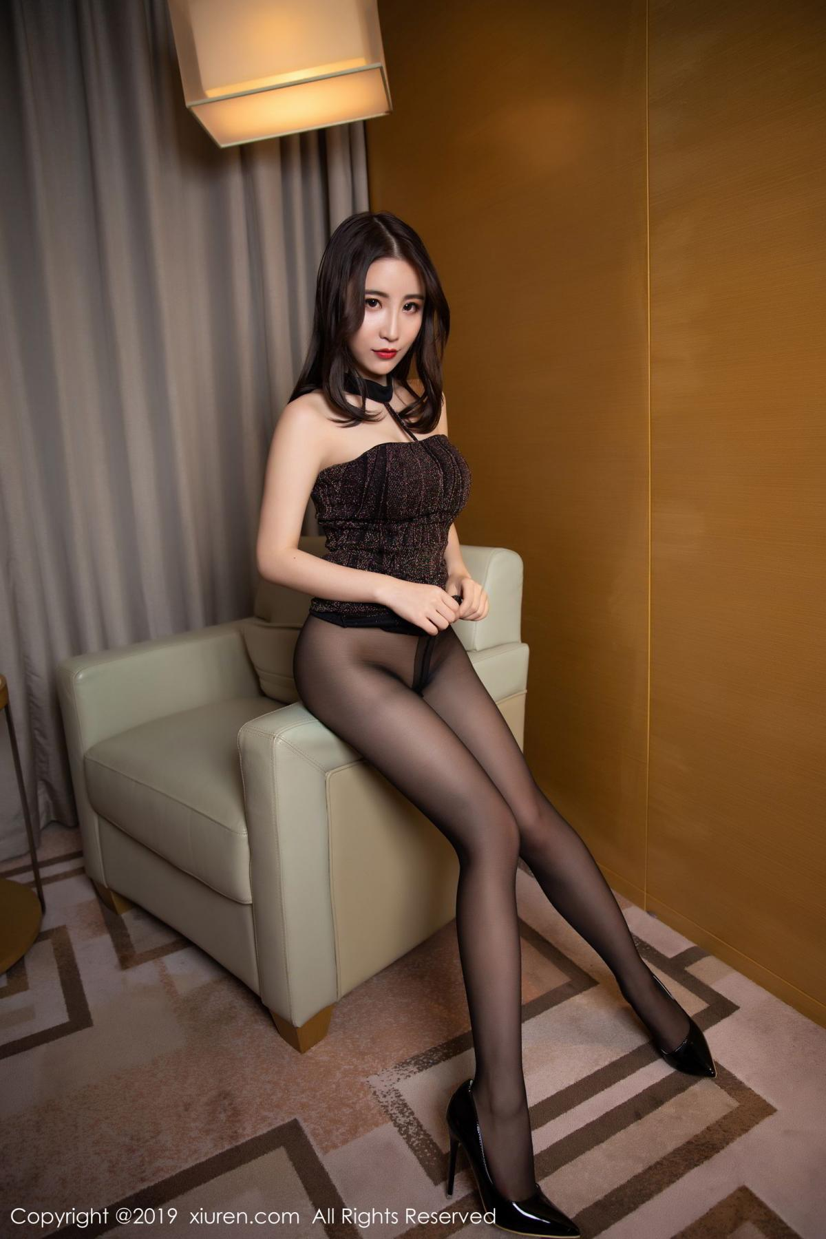[XiuRen] Vol.1509 Xie Zhi Xin 23P, Black Silk, Tall, Xie Zhi Xin, Xiuren