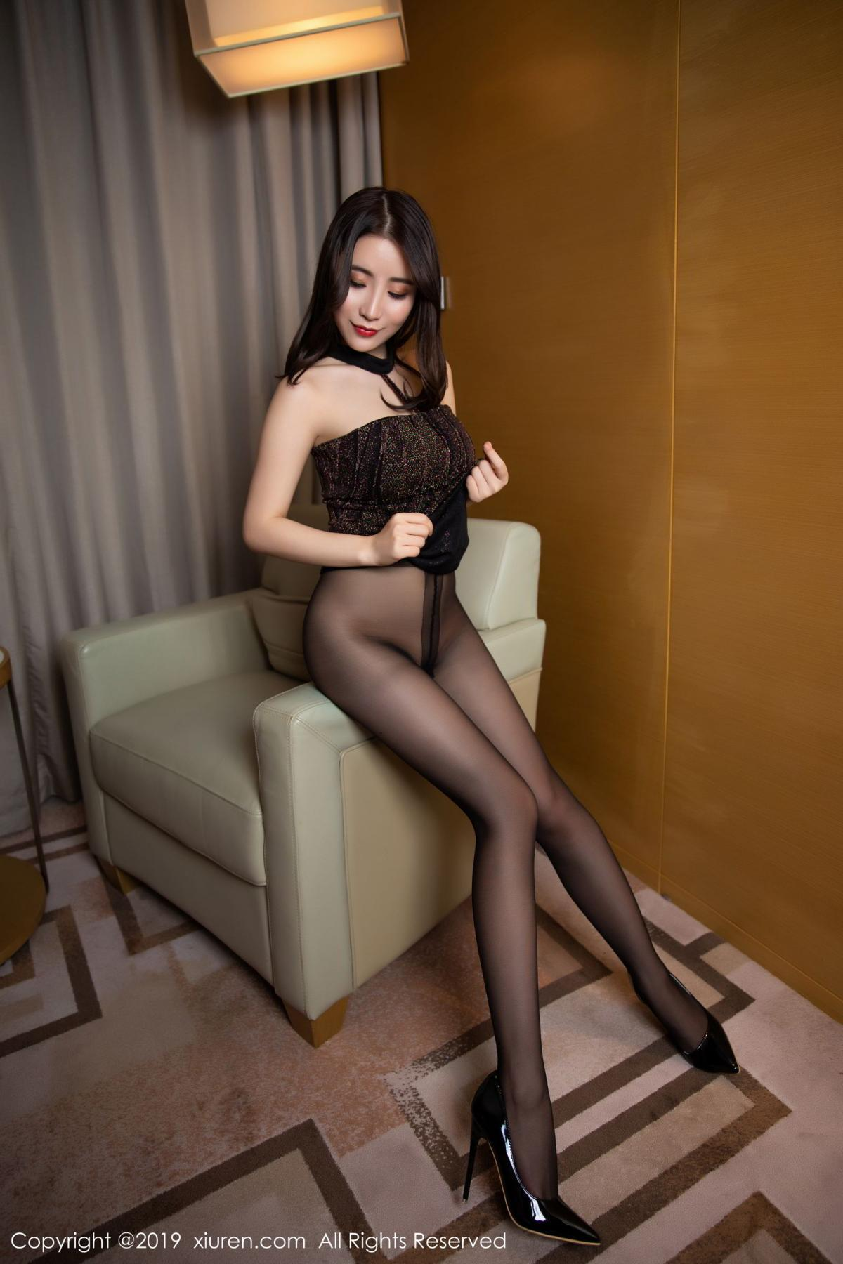 [XiuRen] Vol.1509 Xie Zhi Xin 25P, Black Silk, Tall, Xie Zhi Xin, Xiuren