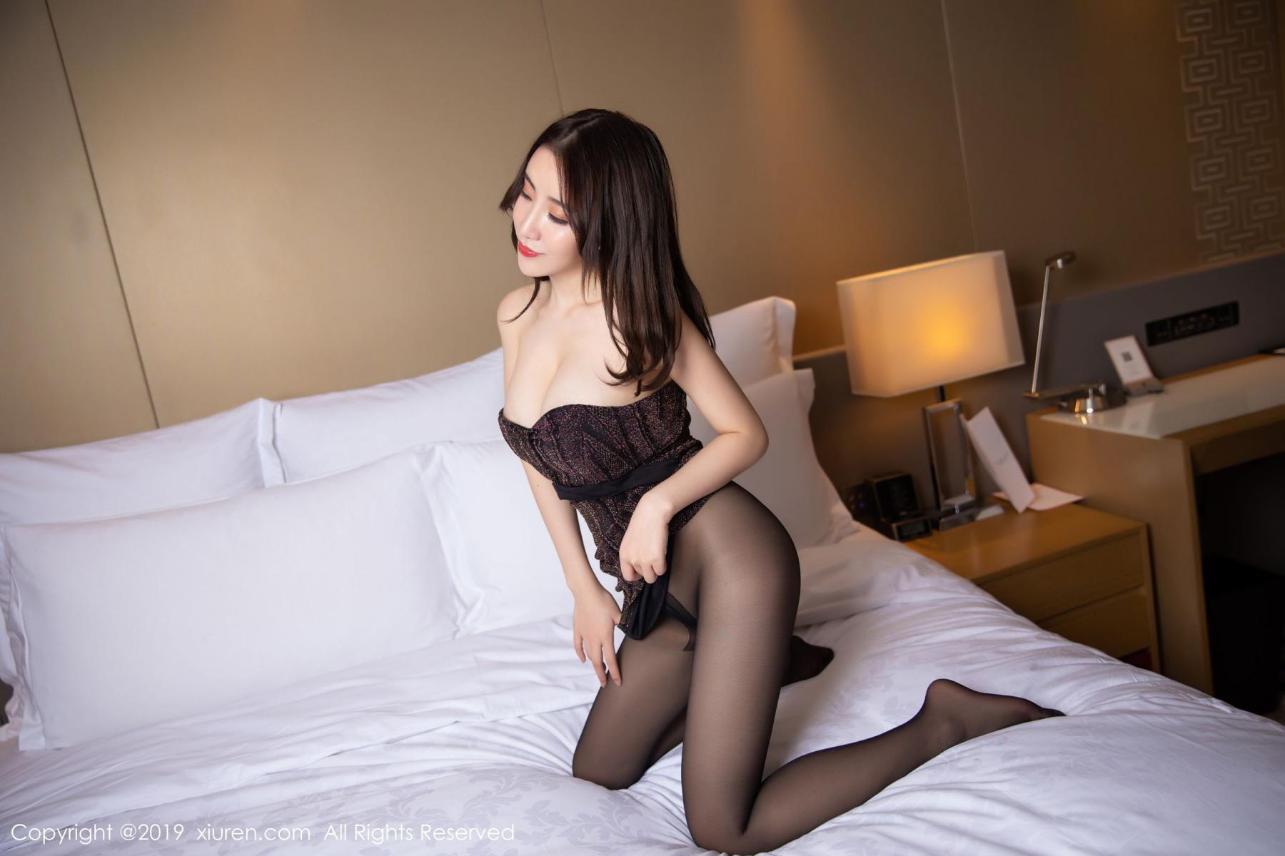 [XiuRen] Vol.1509 Xie Zhi Xin 31P, Black Silk, Tall, Xie Zhi Xin, Xiuren