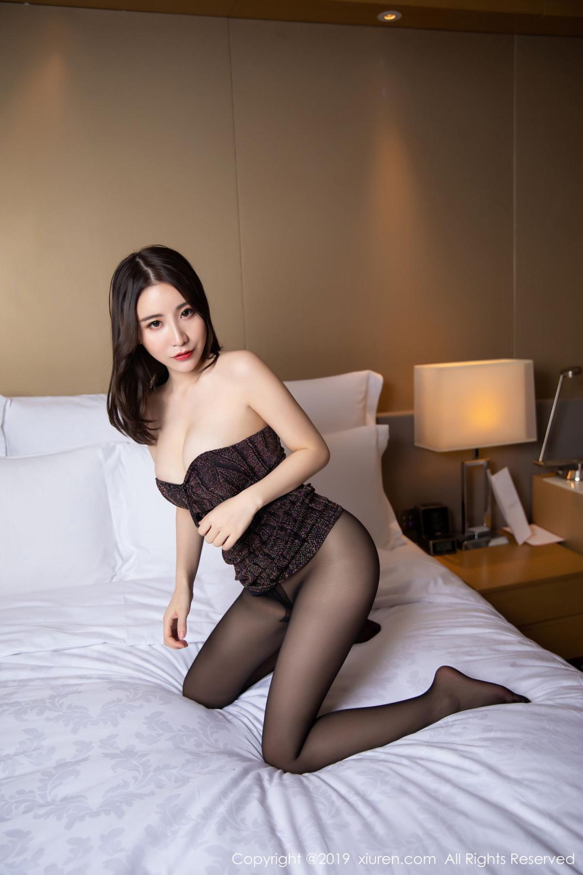 [XiuRen] Vol.1509 Xie Zhi Xin 32P, Black Silk, Tall, Xie Zhi Xin, Xiuren