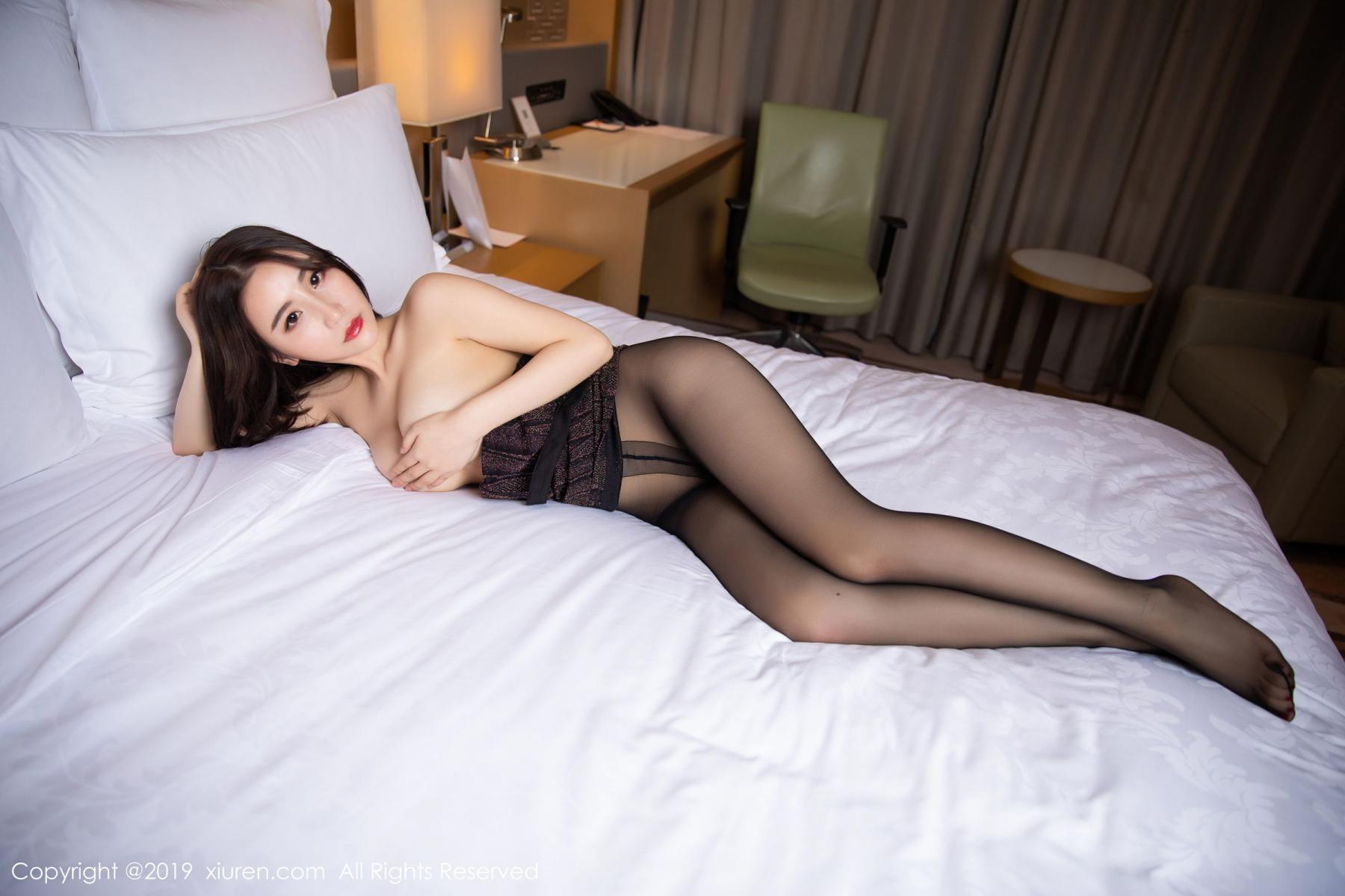 [XiuRen] Vol.1509 Xie Zhi Xin 49P, Black Silk, Tall, Xie Zhi Xin, Xiuren