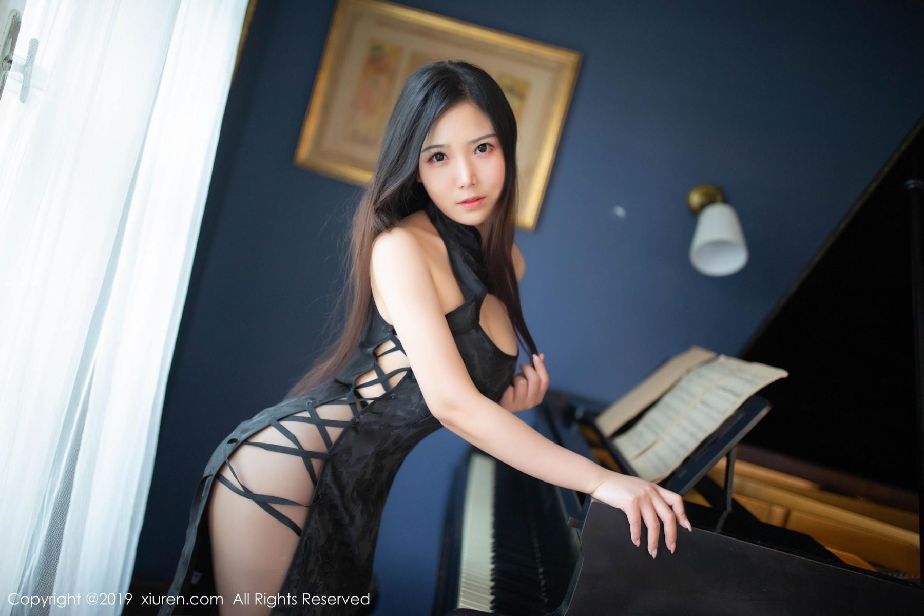 [XiuRen] Vol.1518 Xu Wei Wei 21P, Black Silk, Cheongsam, Pure, Xiuren, Xu Wei Wei