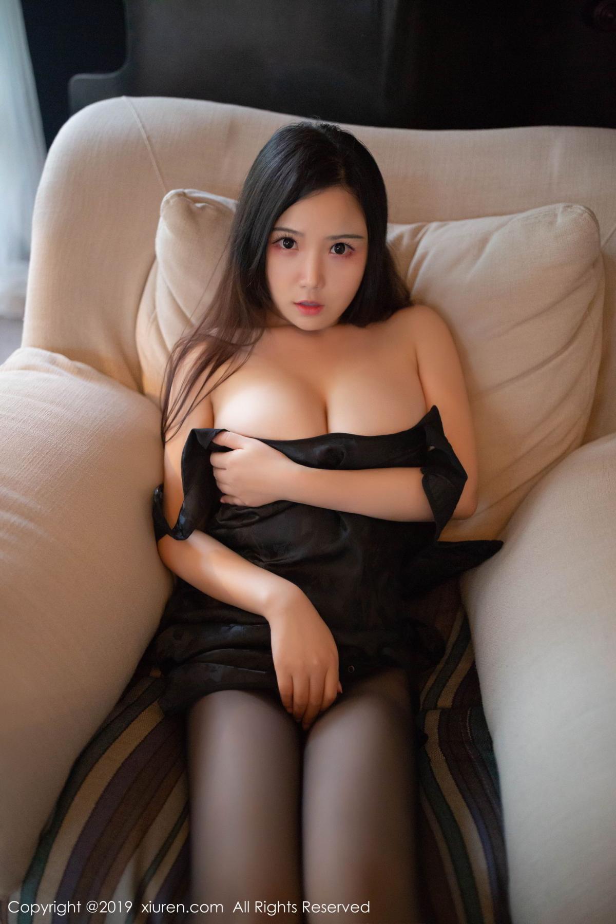 [XiuRen] Vol.1518 Xu Wei Wei 31P, Black Silk, Cheongsam, Pure, Xiuren, Xu Wei Wei