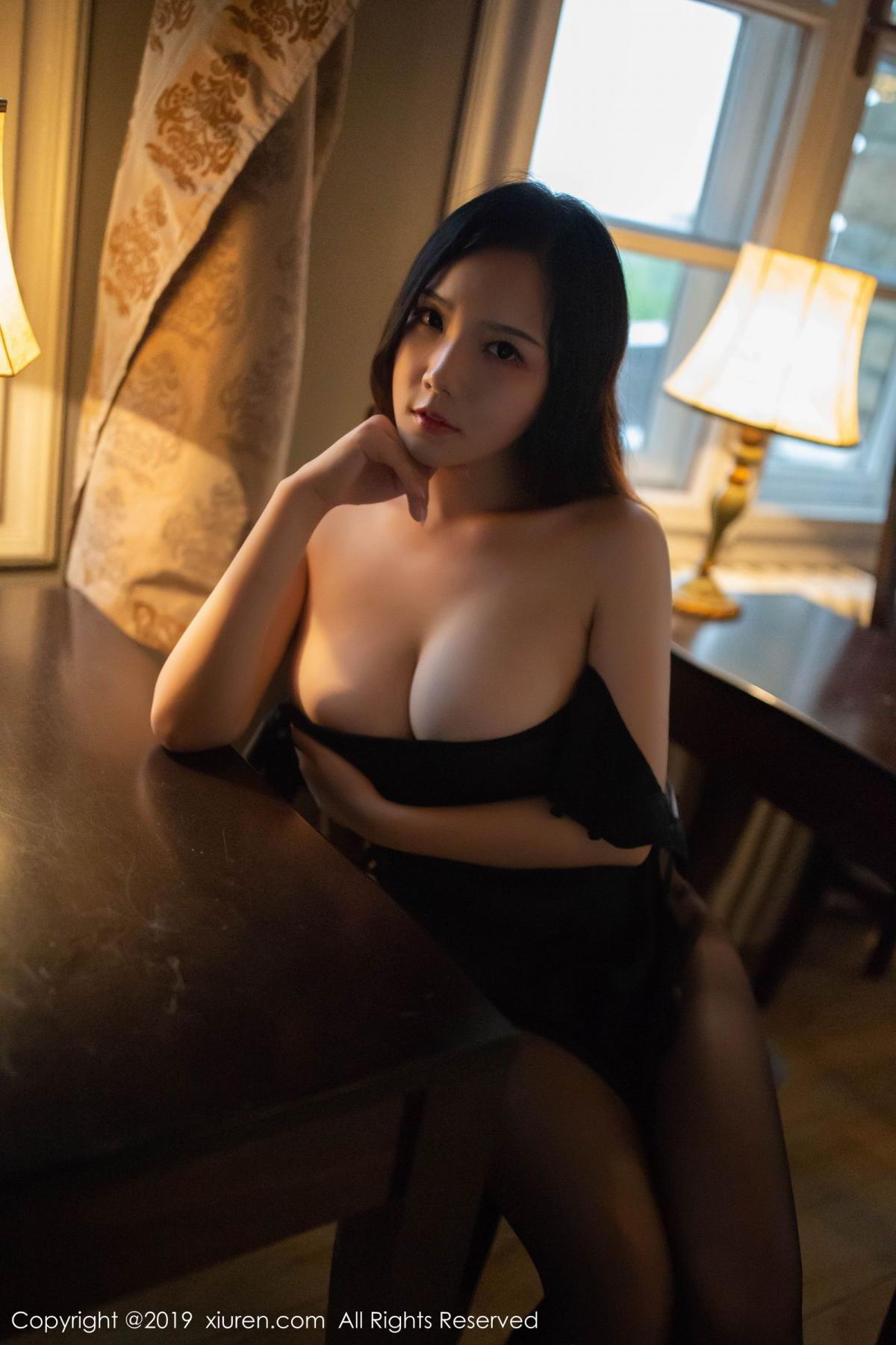 [XiuRen] Vol.1518 Xu Wei Wei 33P, Black Silk, Cheongsam, Pure, Xiuren, Xu Wei Wei