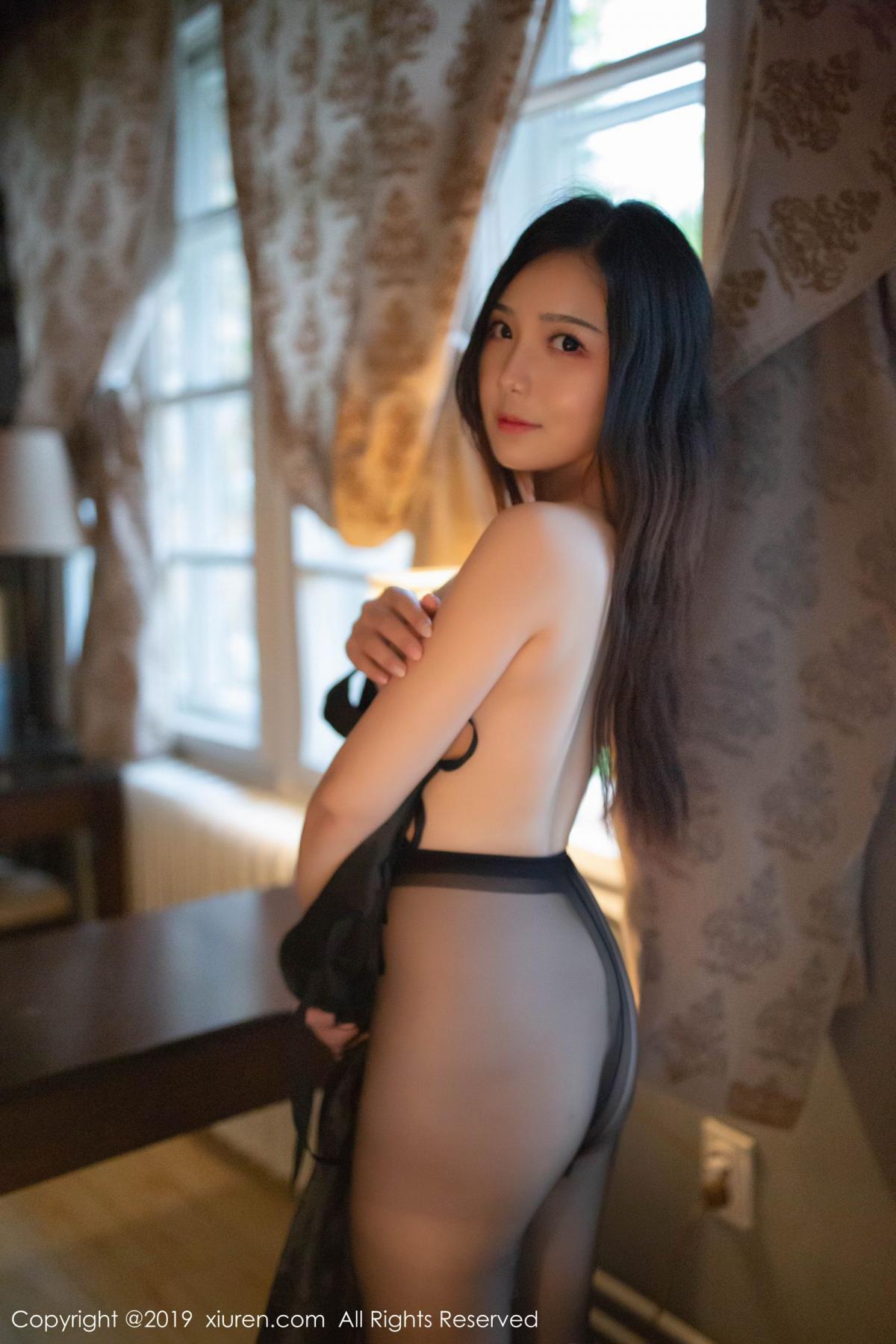 [XiuRen] Vol.1518 Xu Wei Wei 51P, Black Silk, Cheongsam, Pure, Xiuren, Xu Wei Wei