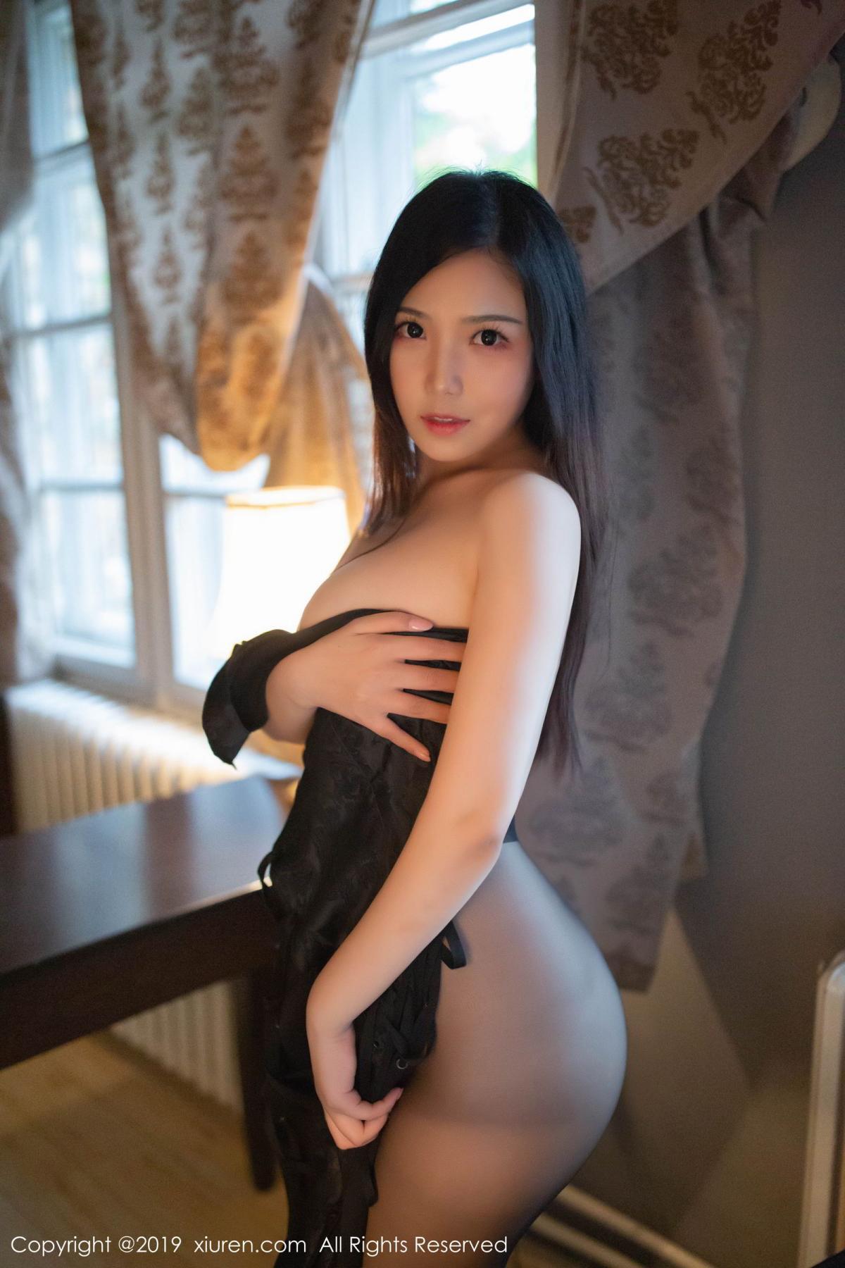 [XiuRen] Vol.1518 Xu Wei Wei 52P, Black Silk, Cheongsam, Pure, Xiuren, Xu Wei Wei