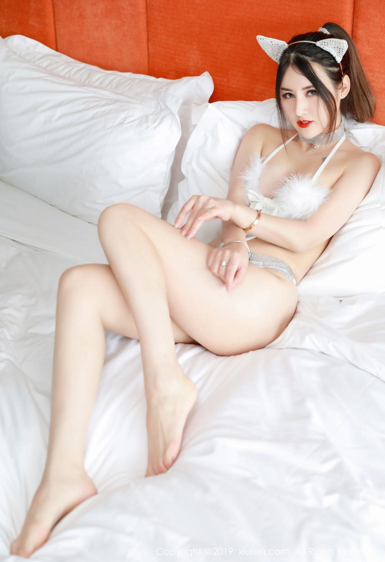 [XiuRen] Vol.1527 Chen Shi Shi 22P, Black Silk, Chen Shi Shi, Tall, Underwear, Xiuren