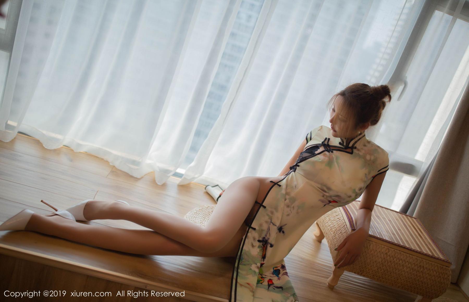 [XiuRen] Vol.1542 Solo Yi Fei 5P, Cheongsam, Solo Yi Fei, Tall, Underwear, Xiuren