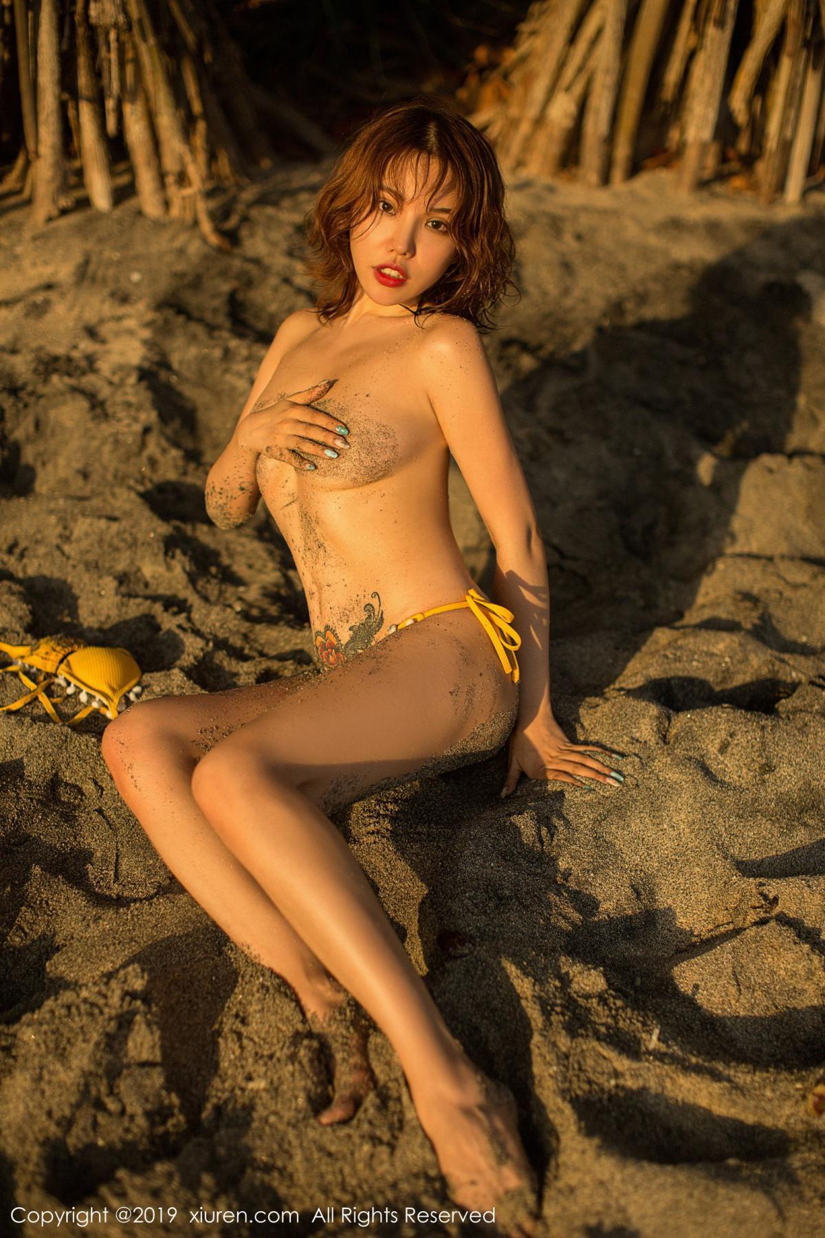 [XiuRen] Vol.1551 Huang Le Ran 10P, Beach, Bikini, Huang Le Ran, Xiuren
