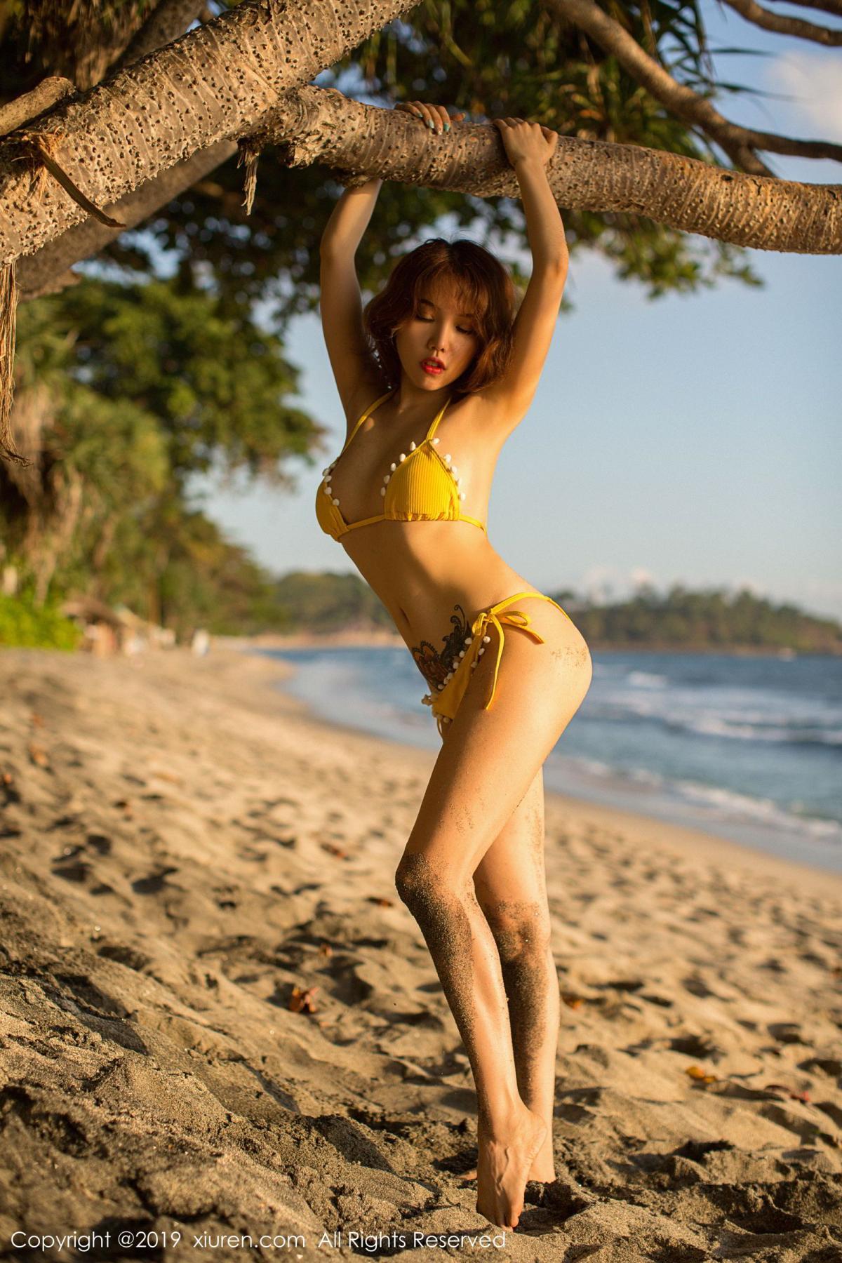[XiuRen] Vol.1551 Huang Le Ran 15P, Beach, Bikini, Huang Le Ran, Xiuren