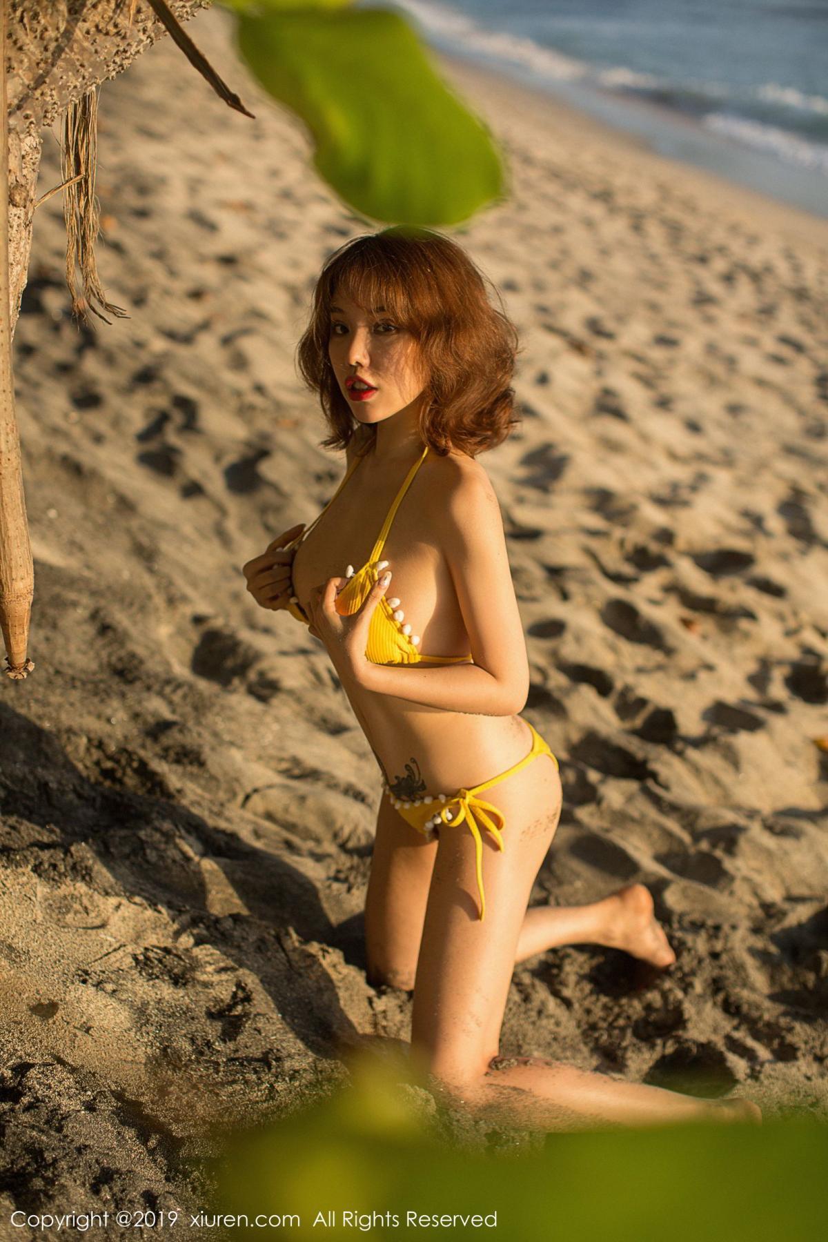 [XiuRen] Vol.1551 Huang Le Ran 17P, Beach, Bikini, Huang Le Ran, Xiuren