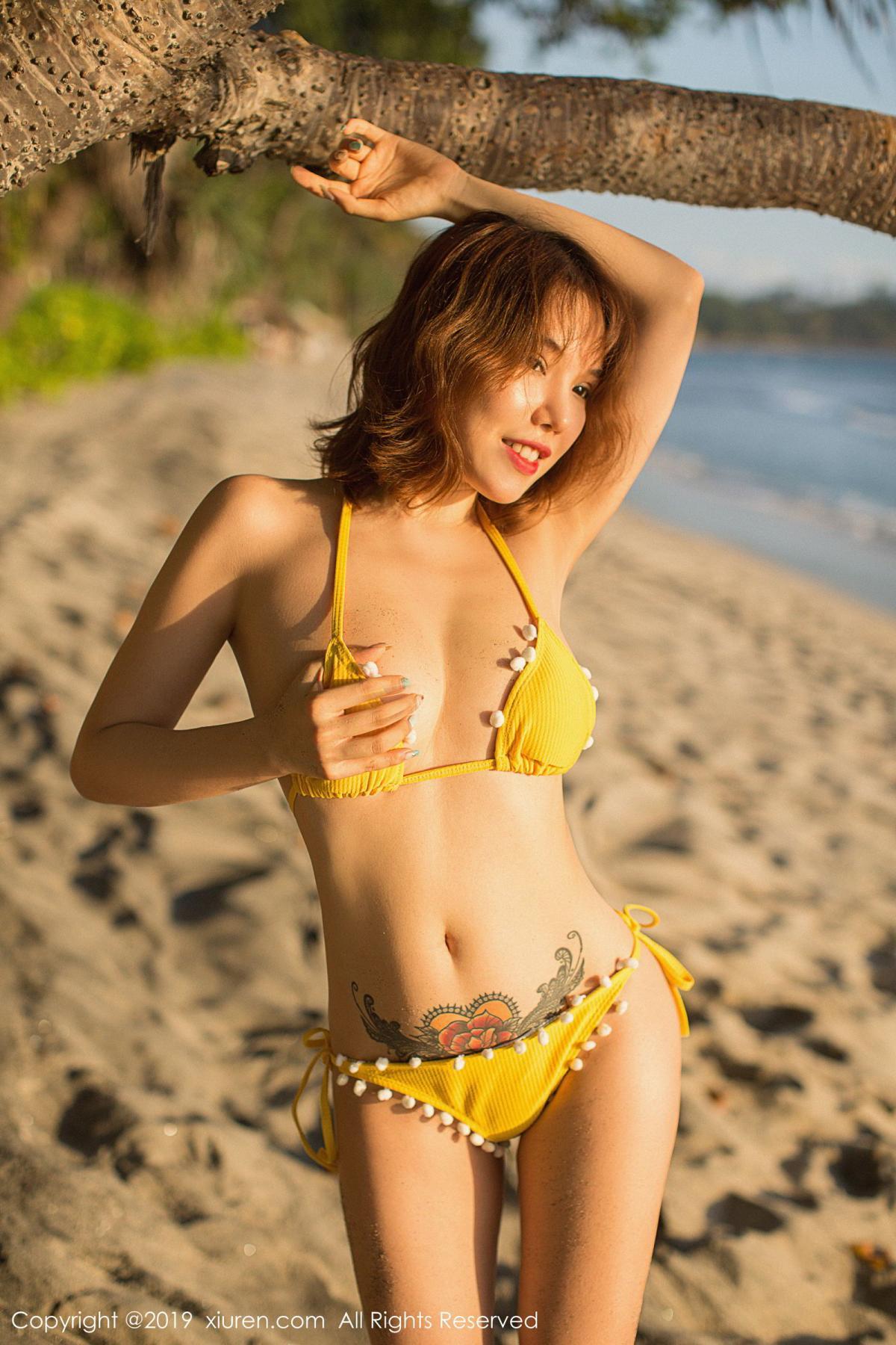 [XiuRen] Vol.1551 Huang Le Ran 22P, Beach, Bikini, Huang Le Ran, Xiuren