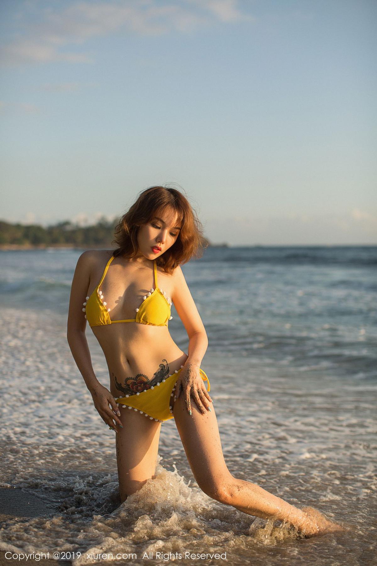 [XiuRen] Vol.1551 Huang Le Ran 23P, Beach, Bikini, Huang Le Ran, Xiuren