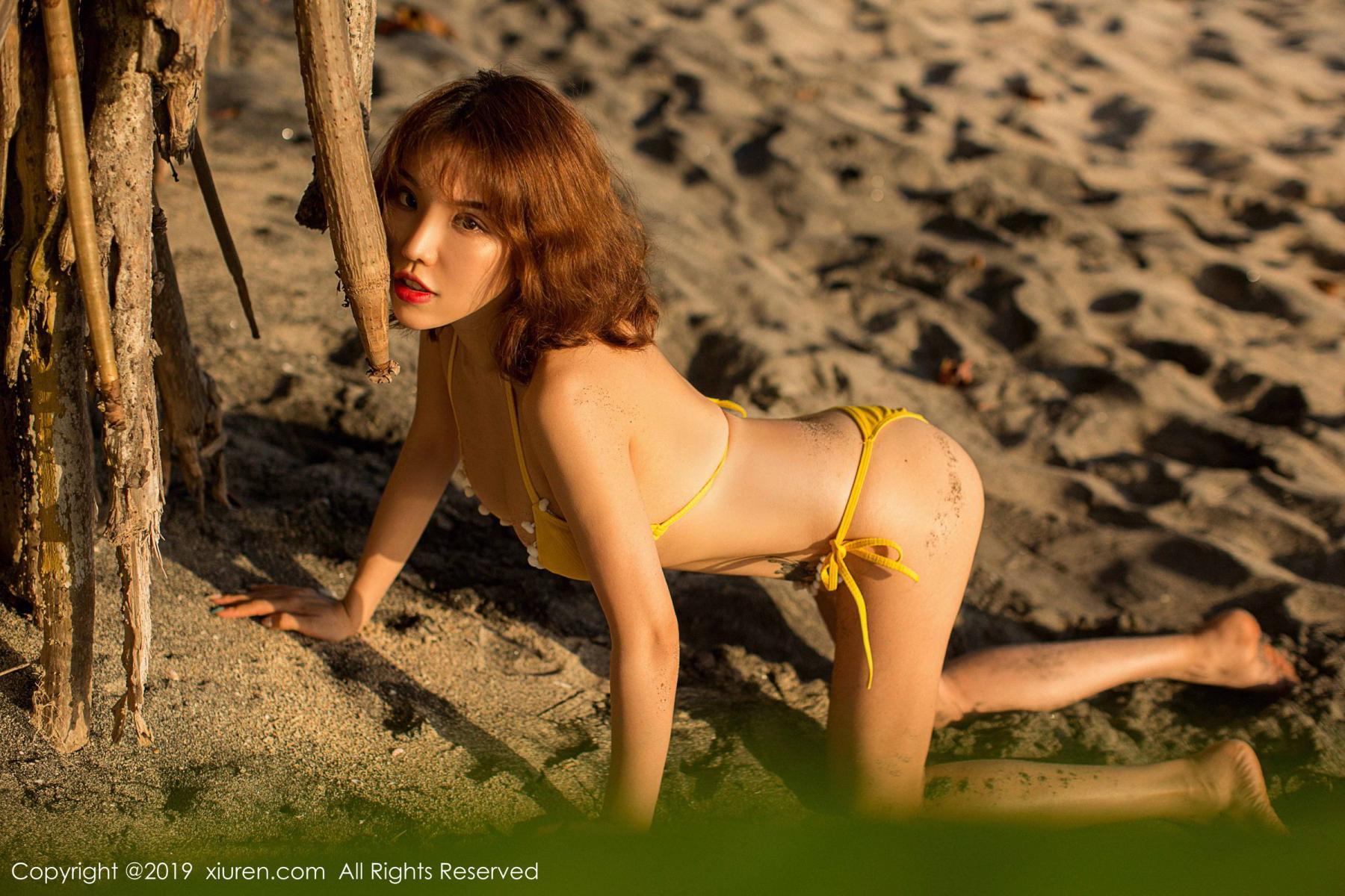 [XiuRen] Vol.1551 Huang Le Ran 2P, Beach, Bikini, Huang Le Ran, Xiuren