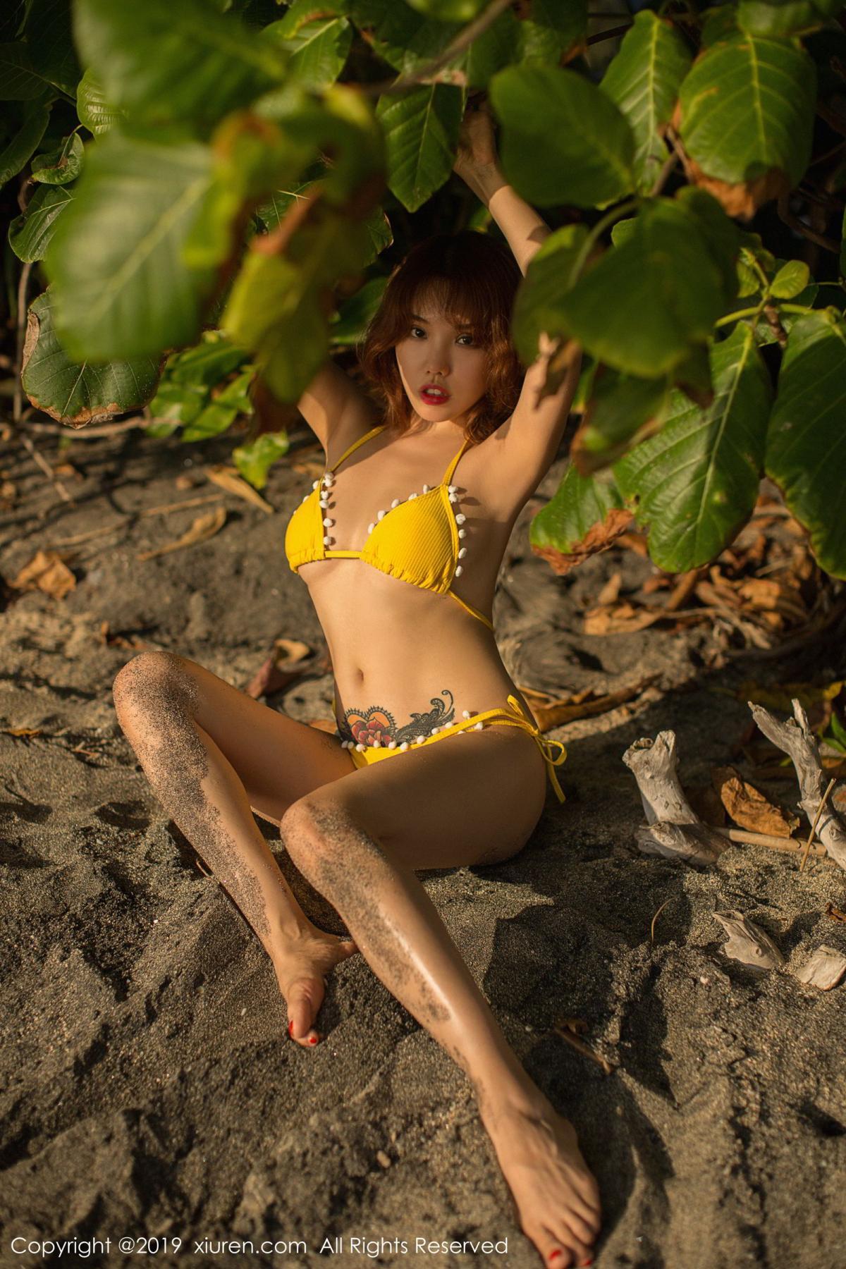 [XiuRen] Vol.1551 Huang Le Ran 32P, Beach, Bikini, Huang Le Ran, Xiuren