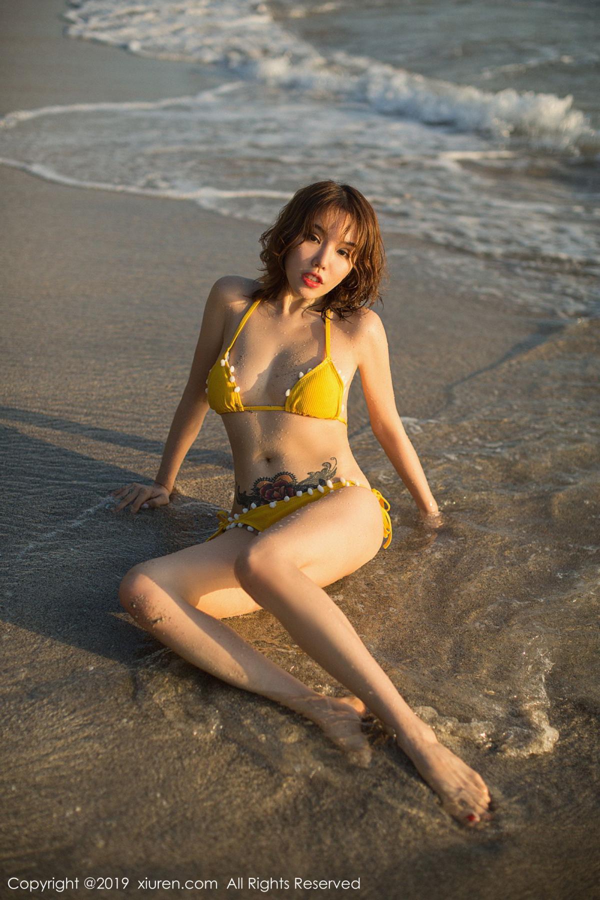 [XiuRen] Vol.1551 Huang Le Ran 47P, Beach, Bikini, Huang Le Ran, Xiuren