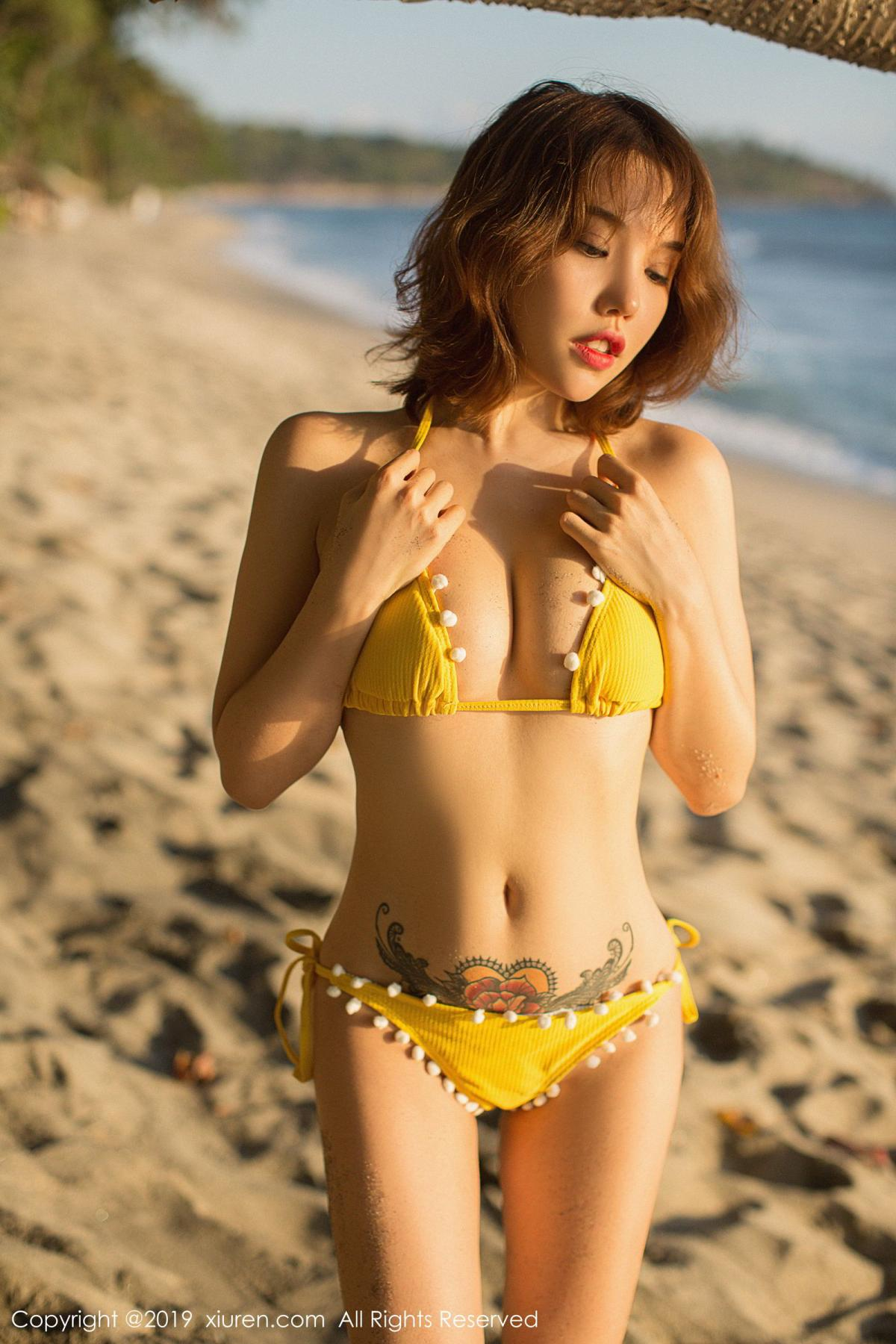 [XiuRen] Vol.1551 Huang Le Ran 51P, Beach, Bikini, Huang Le Ran, Xiuren