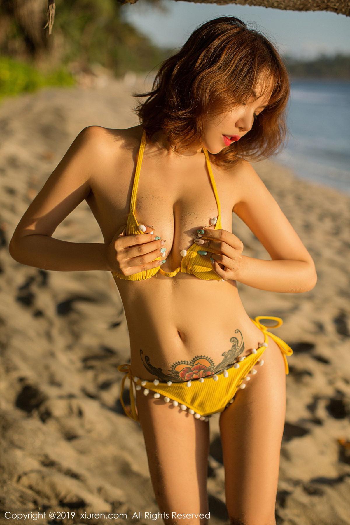 [XiuRen] Vol.1551 Huang Le Ran 54P, Beach, Bikini, Huang Le Ran, Xiuren