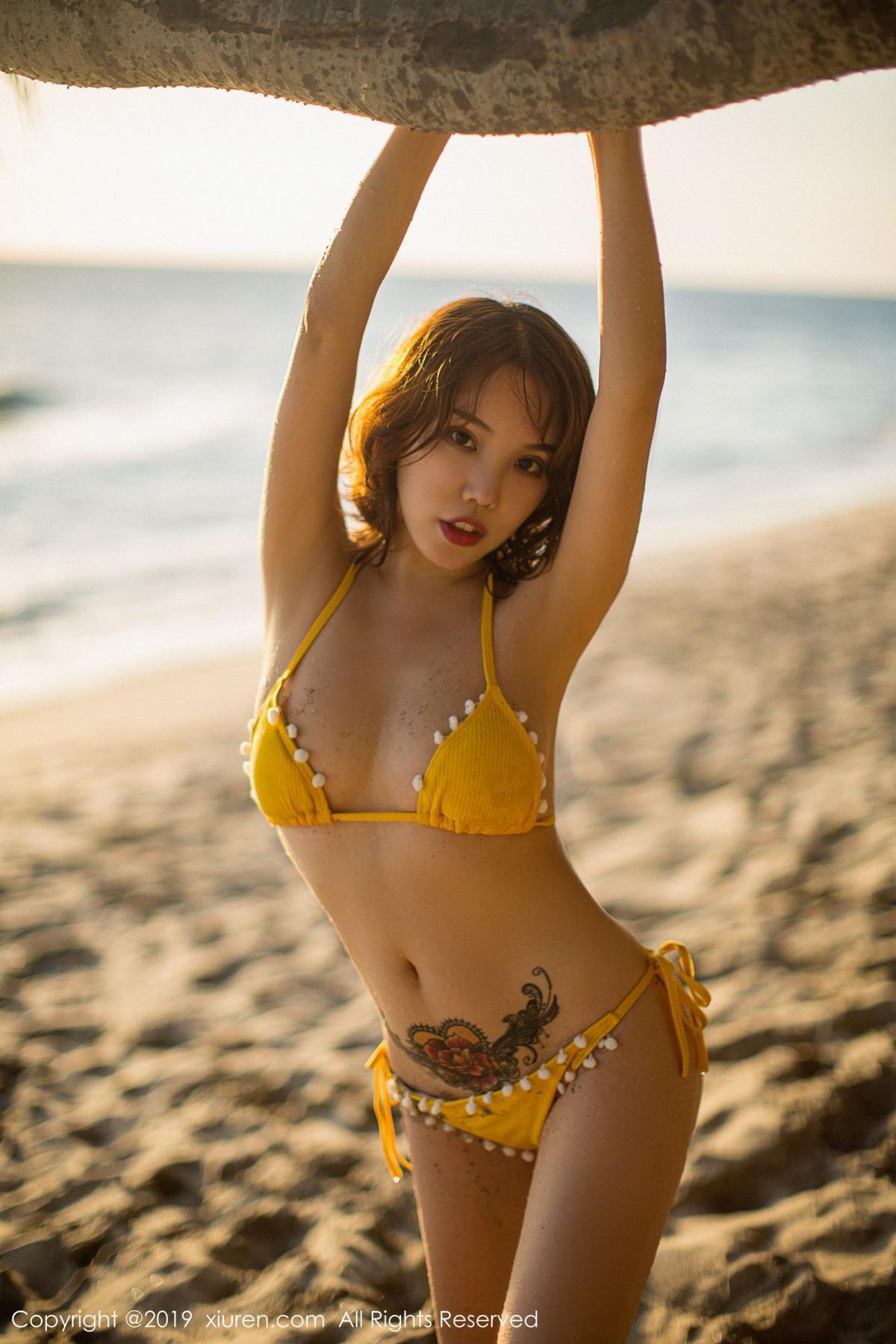 [XiuRen] Vol.1551 Huang Le Ran 5P, Beach, Bikini, Huang Le Ran, Xiuren